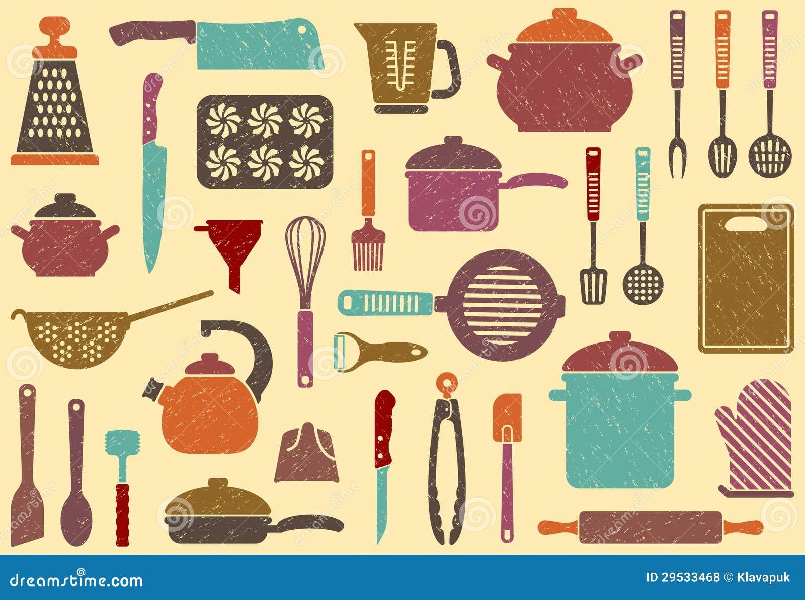 Fundo com mercadorias da cozinha
