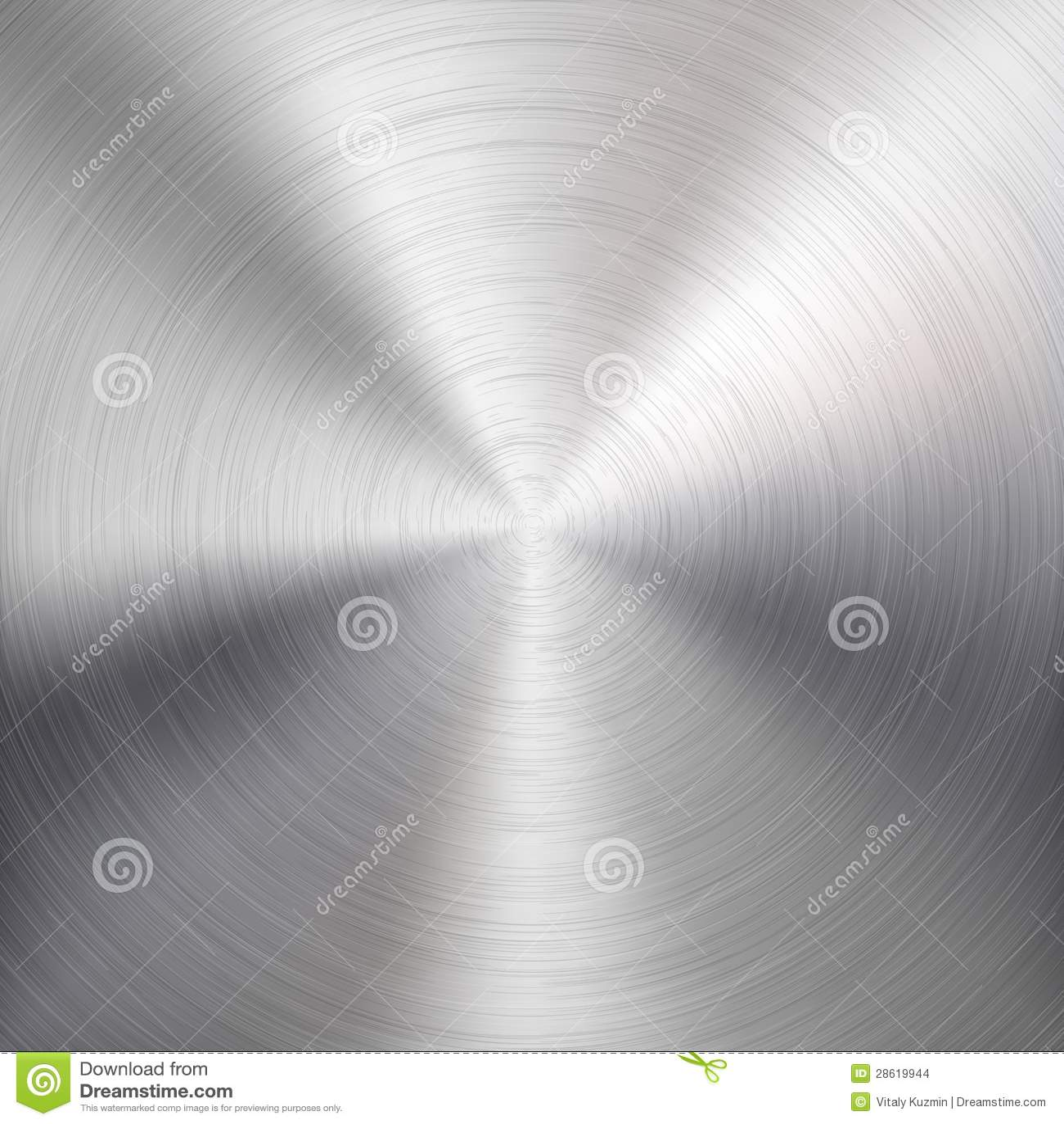 Fundo com metal circular textura escovada