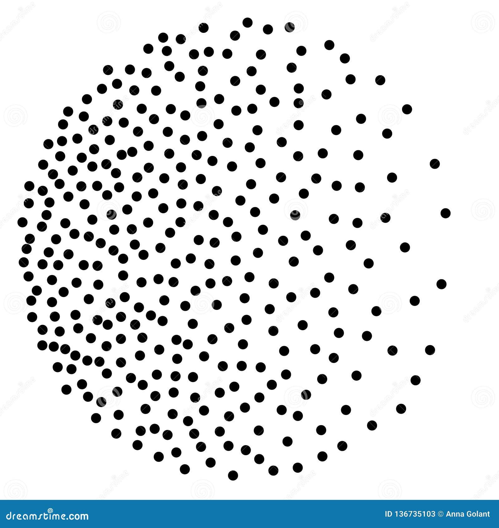 Fundo com os pontos escuros aleatórios Teste padrão elegante com às bolinhas pretos