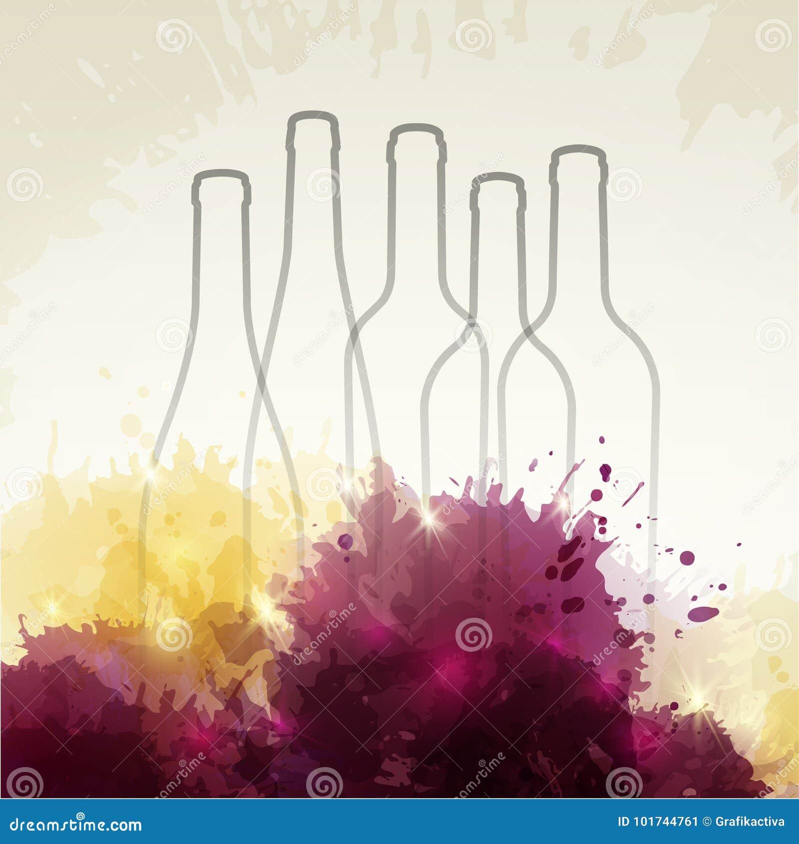 Fundo com pontos e vinho coloridos Ilustração do vinho BO