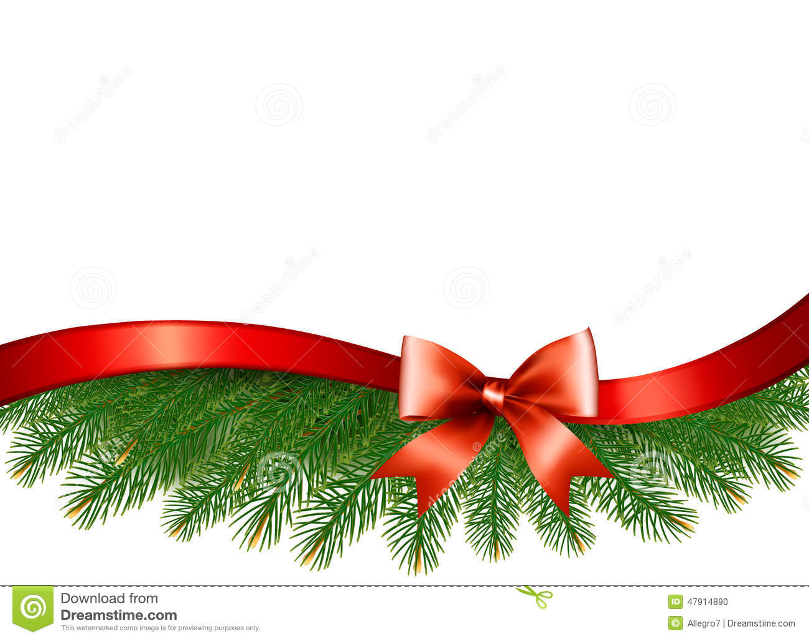 Fundo com ramos de rvore do natal e uma fita vermelha - Cinta de navidad ...