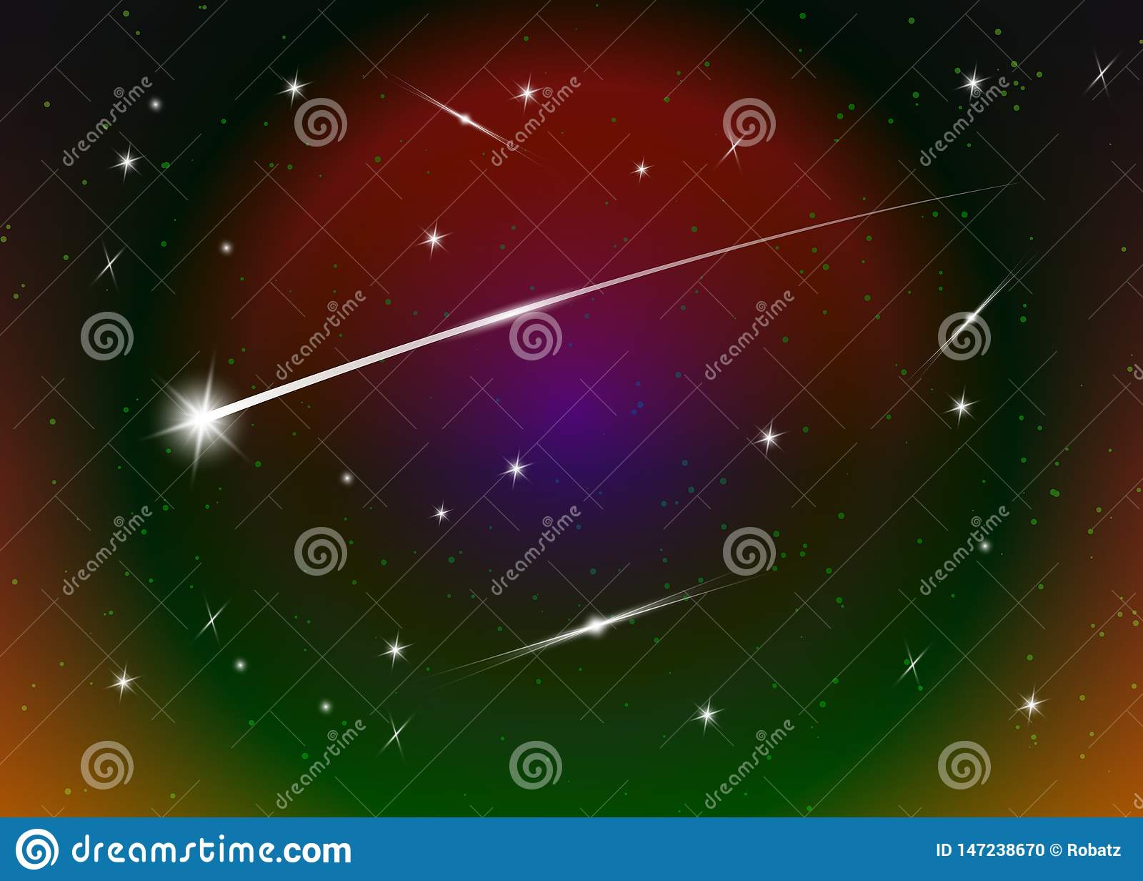Fundo contra a obscuridade - c?u noturno estrelado azul da estrela de tiro, ilustra??o do vetor Fundo do espa?o Galáxia colorida