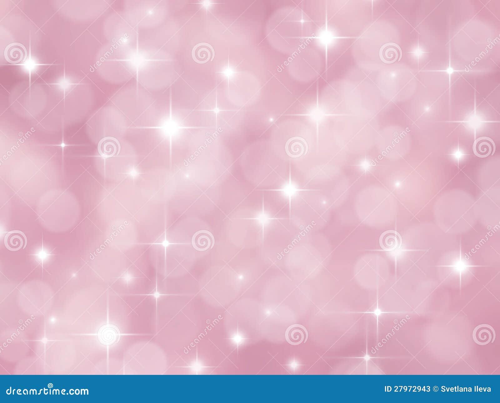 foto de Fundo Cor de rosa Abstrato Do Boke Com Estrelas Ilustração Stock Ilustração de borrão ponto
