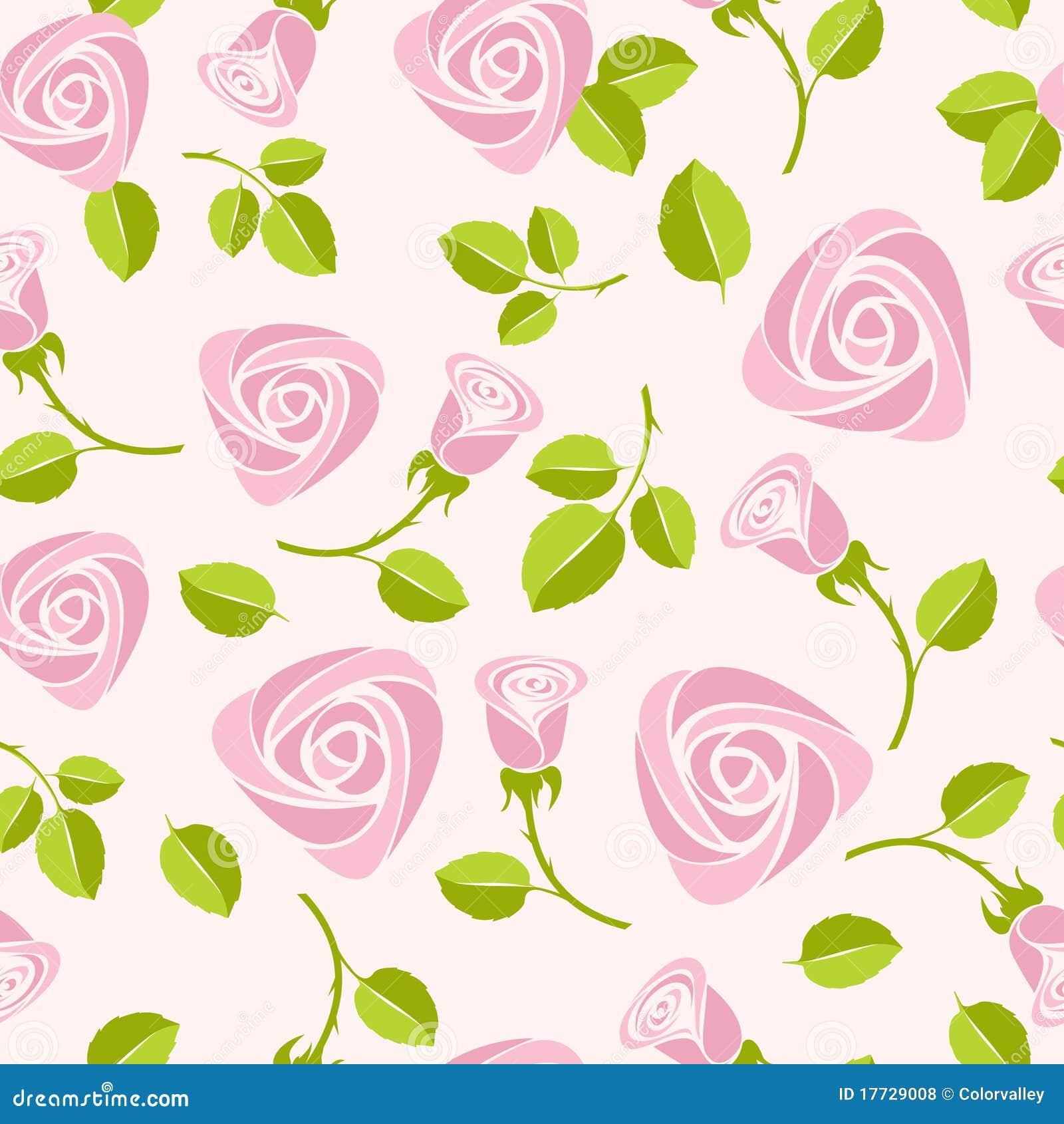 Ilustra    O Colorida Do Fundo Cor De Rosa Floral Sem Emenda