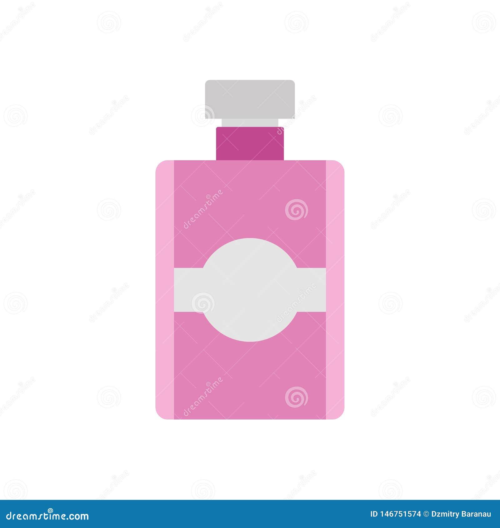 Fundo cosmético do projeto da ilustração do vetor da garrafa de perfume isolado Ícone de vidro da forma da beleza da fragrância d
