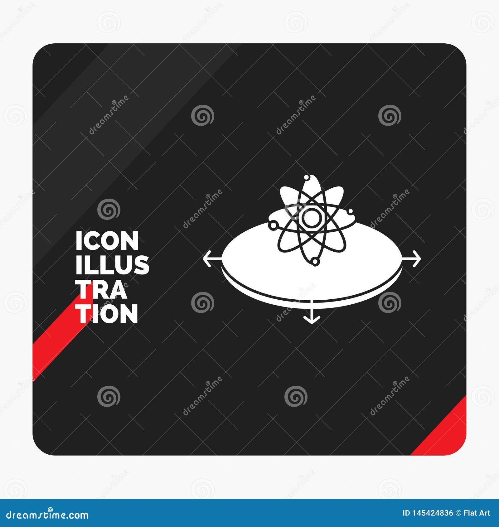 Fundo criativo vermelho e preto da apresentação para o negócio, conceito, ideia, inovação, ícone do Glyph da luz