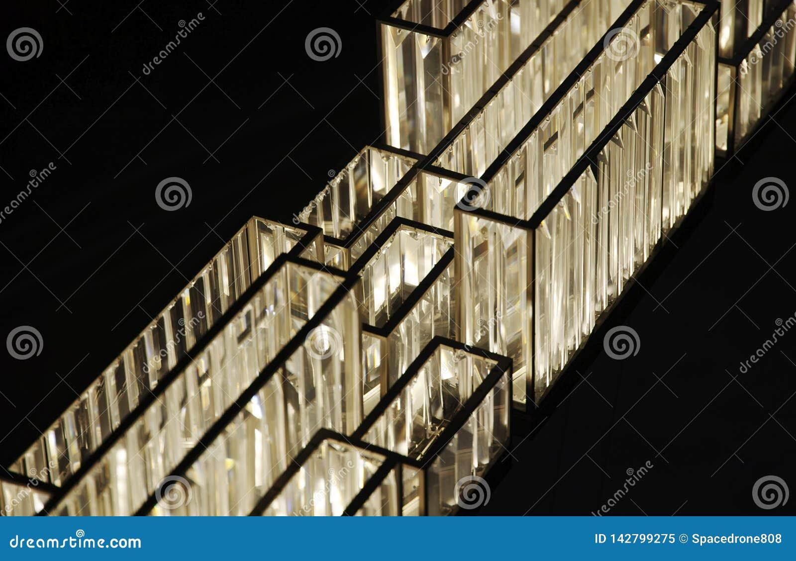Fundo cristalino futurista dos conectores