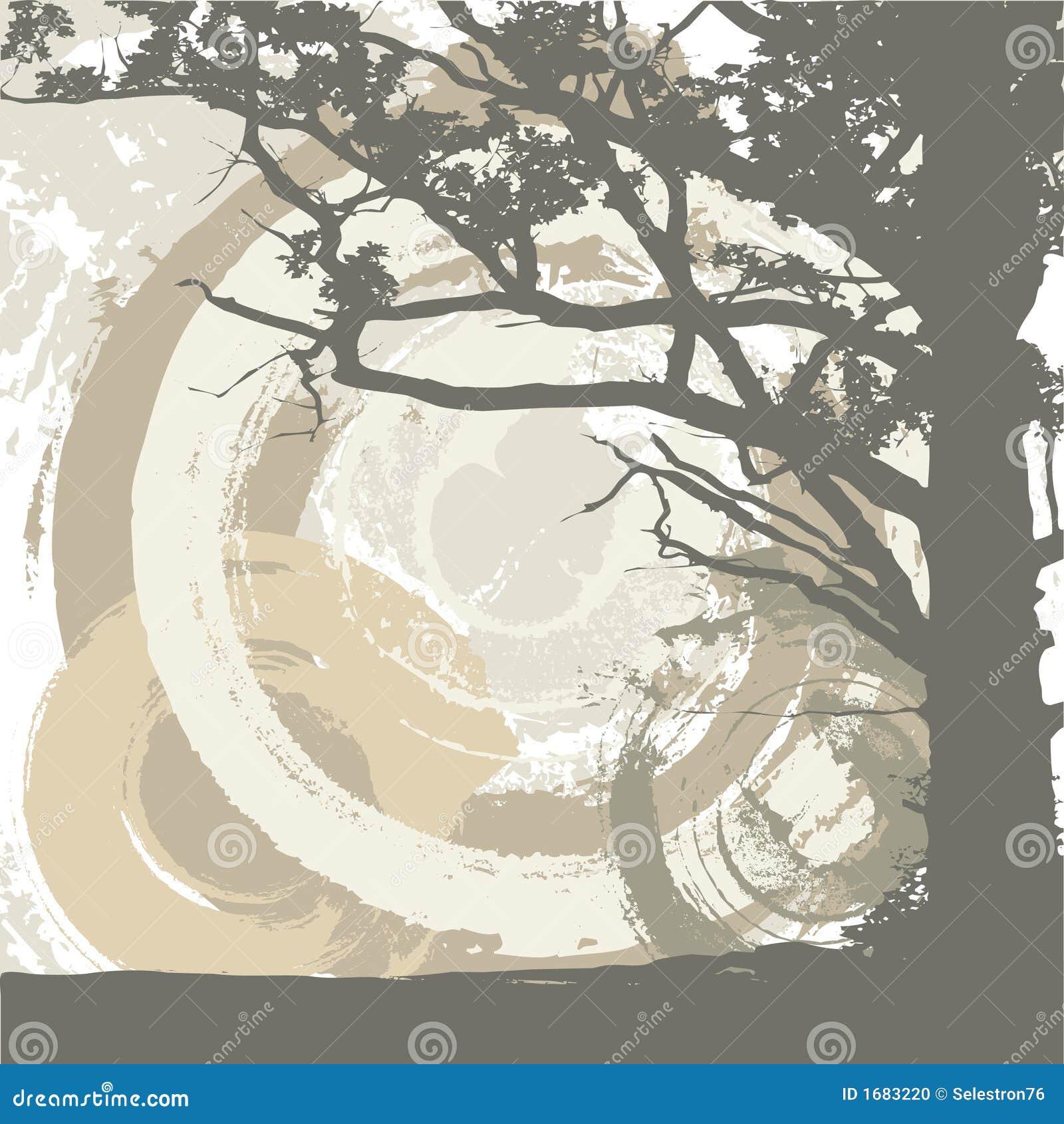 Fundo da árvore e do grunge