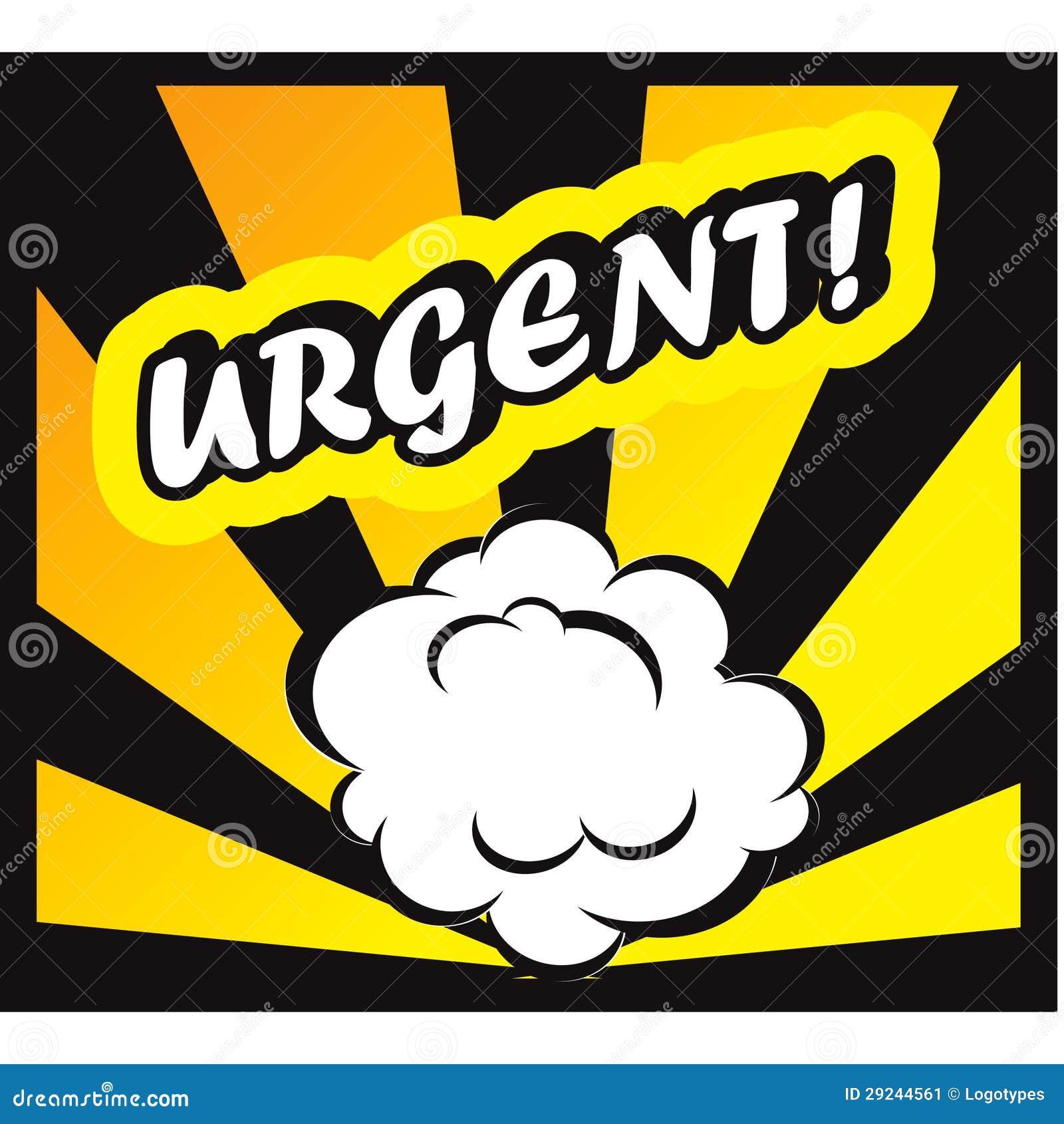 Download Fundo Da Banda Desenhada Urgente! Selo Do Escritório Do Pop Art Do Cartão Do Sinal Ilustração Stock - Ilustração de dinamite, sumário: 29244561