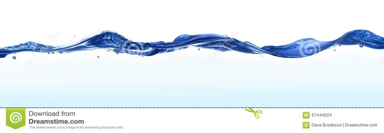 Fundo da bandeira da água das ondas