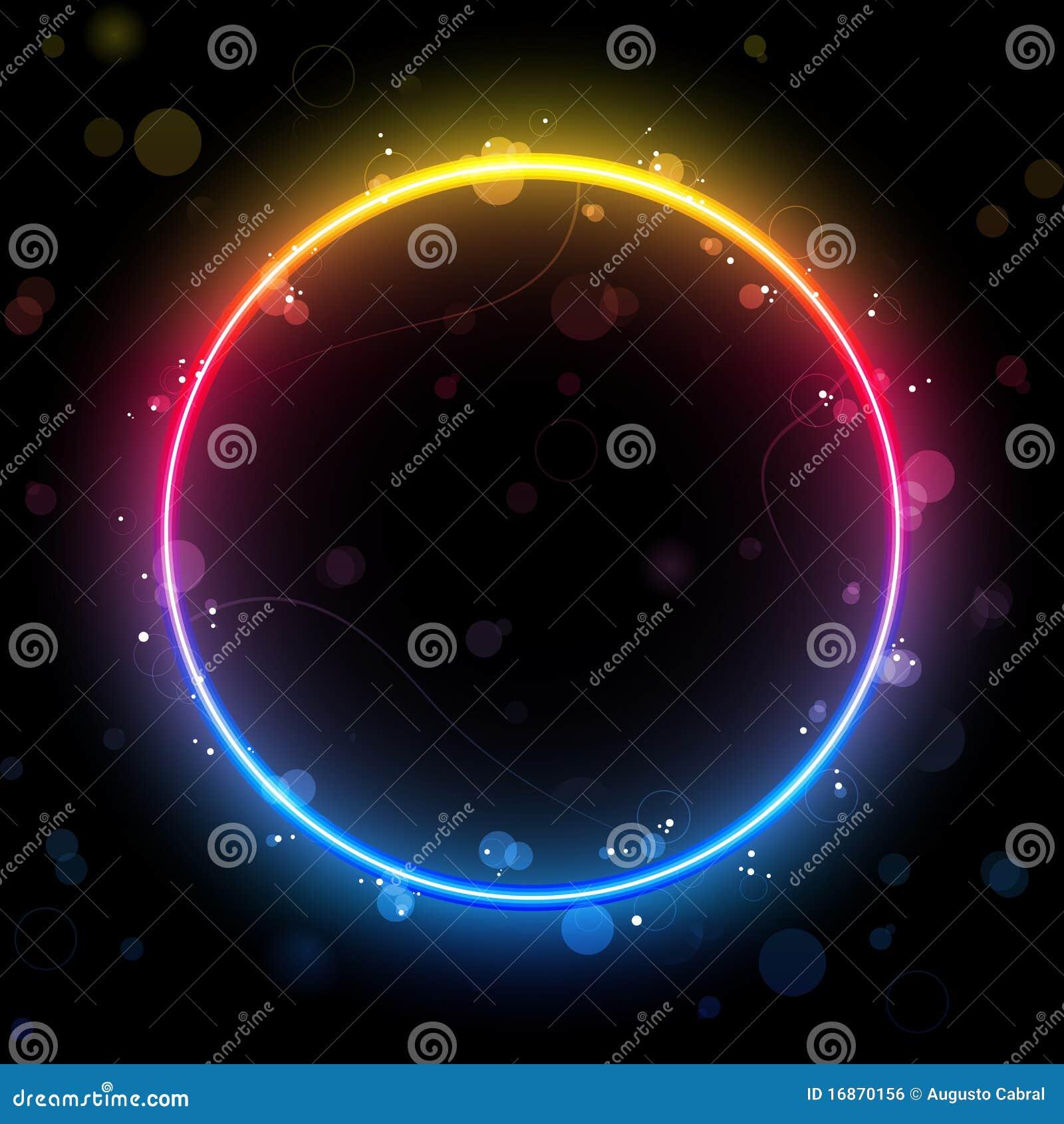 Fundo da beira do círculo do arco-íris