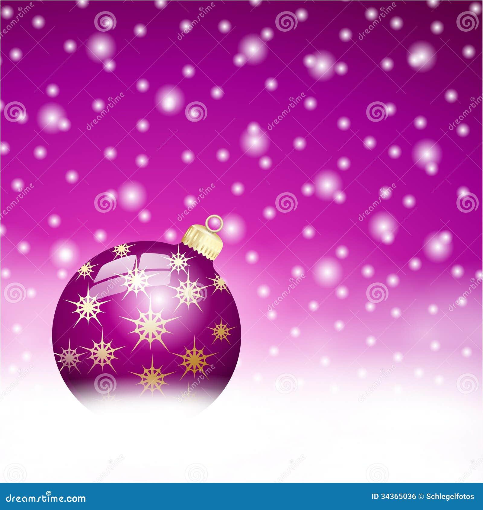 Fundo da bola do Natal de Lila