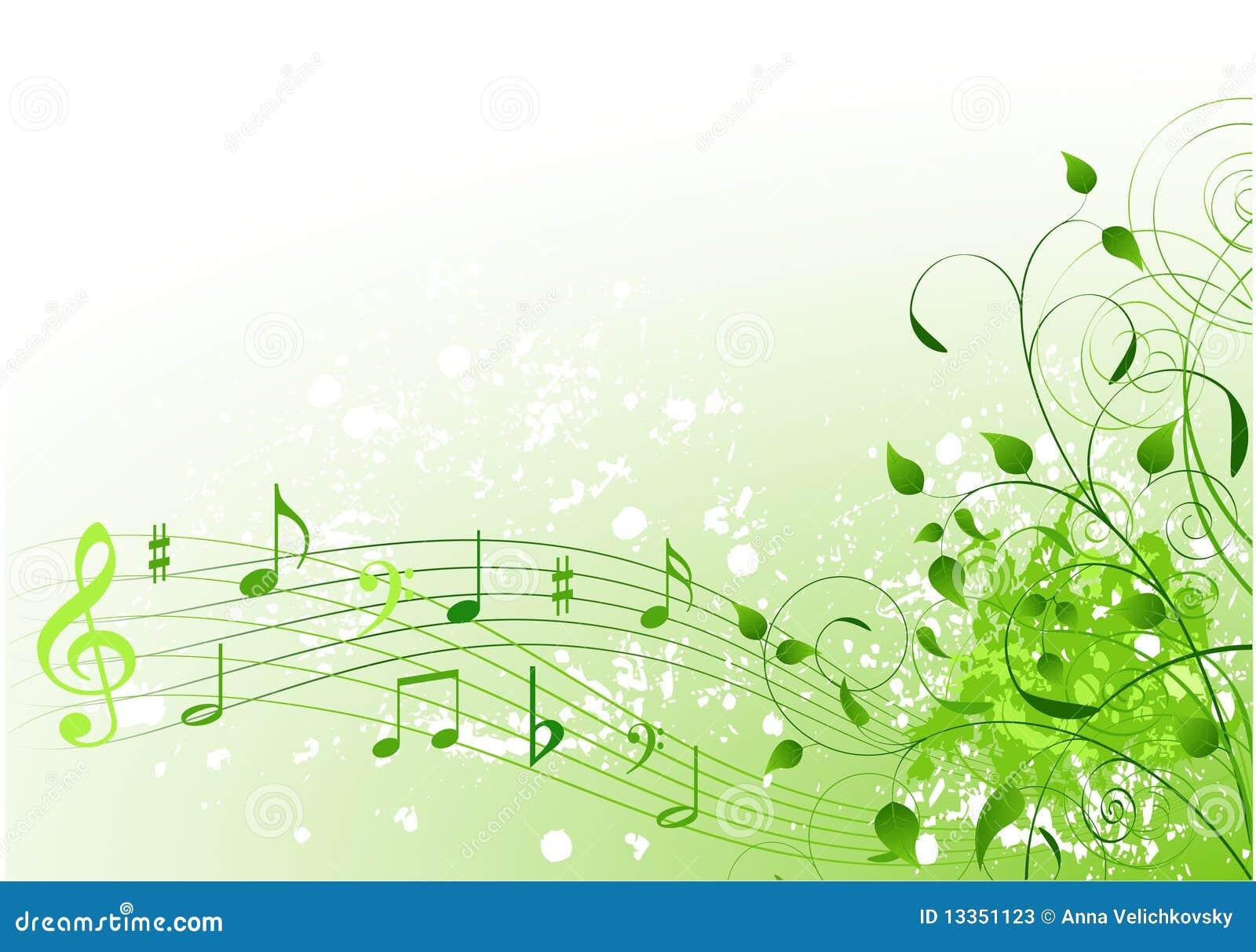 Fundo da canção da mola