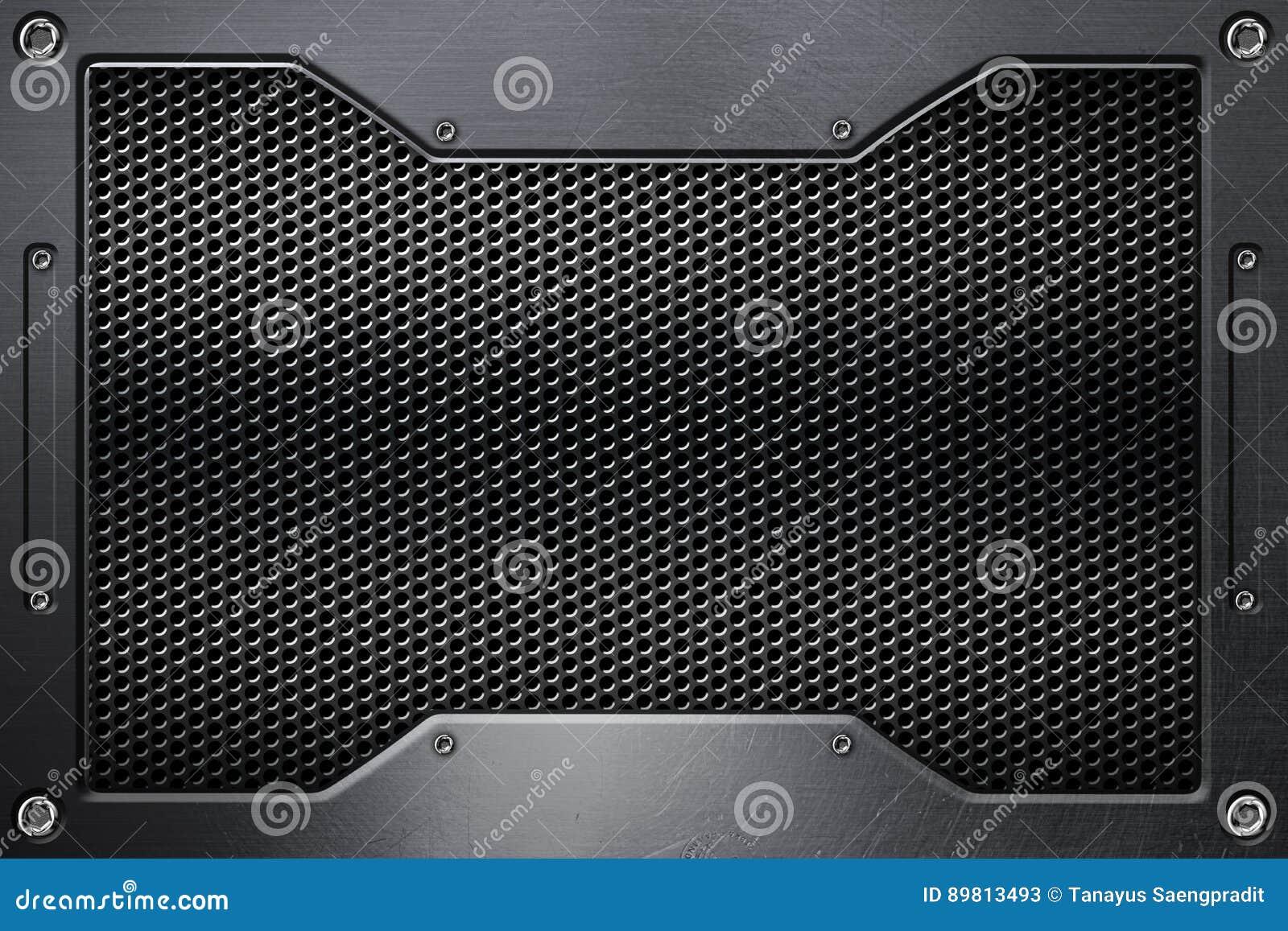 Fundo da grade de chrome com quadro do metal ilustração stock