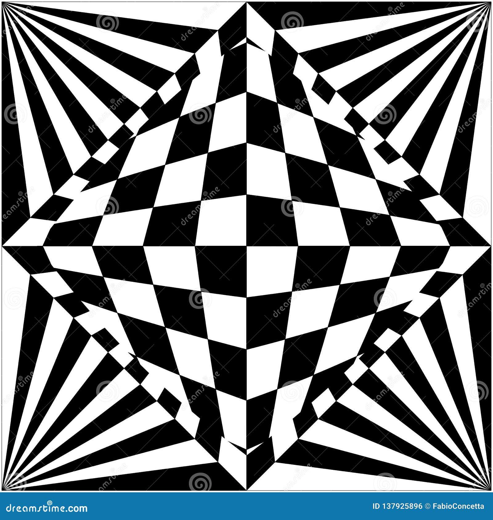 Fundo Da Ilusao Otica Preto E Branco Ilustracao Do Vetor
