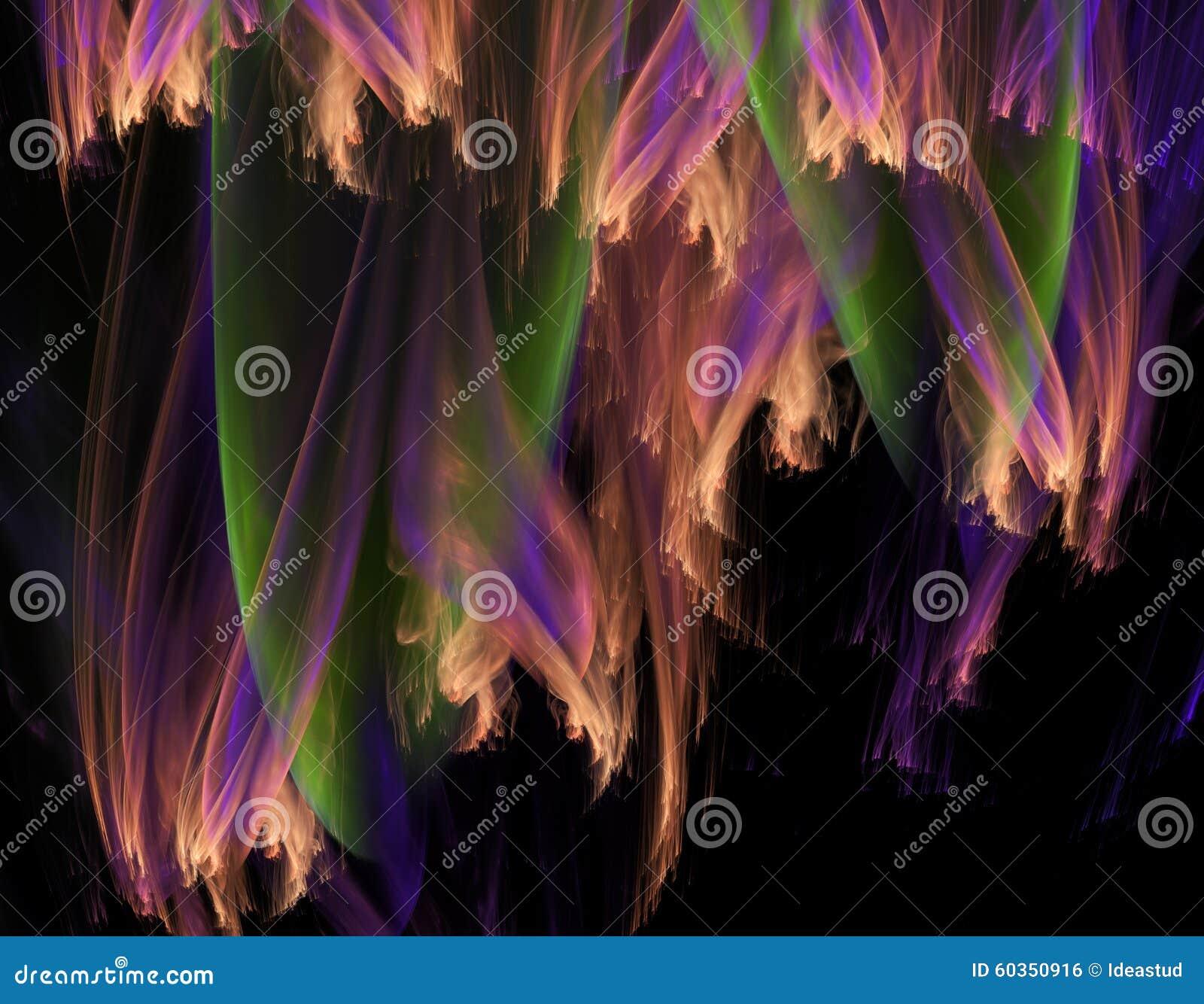 Fundo da ilustração do fractal do sumário 3d para