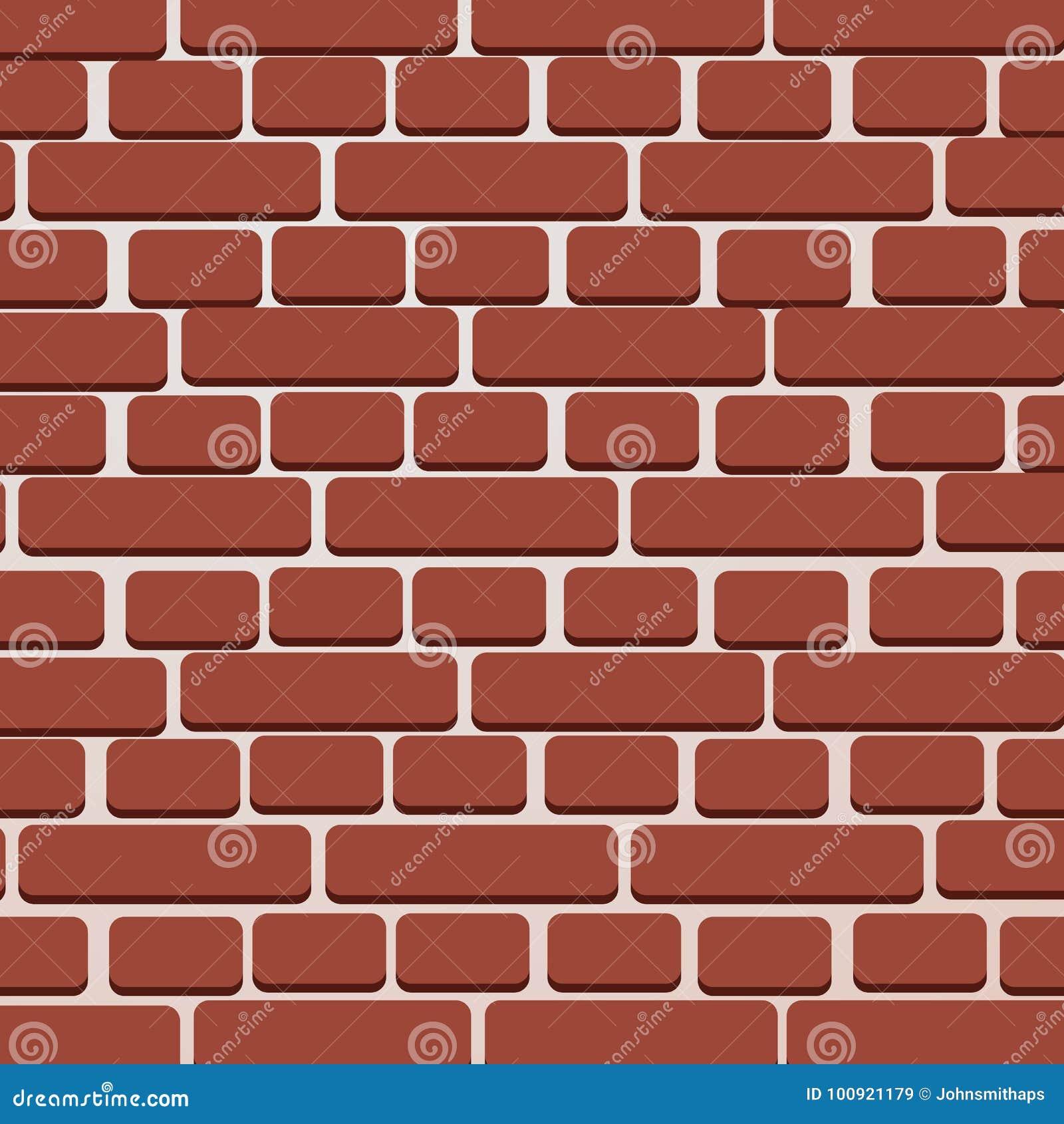 Fundo da ilustração do vetor da parede de tijolo vermelho - texture a ilustração