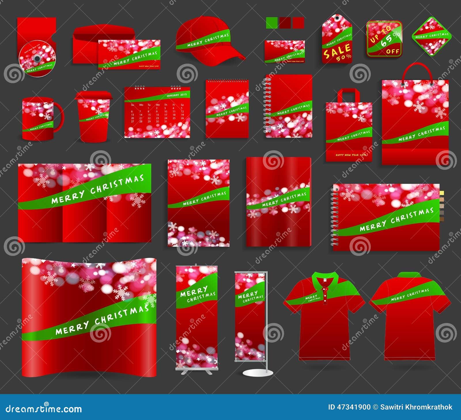 Fundo da luz de Natal com moldes da identidade corporativa