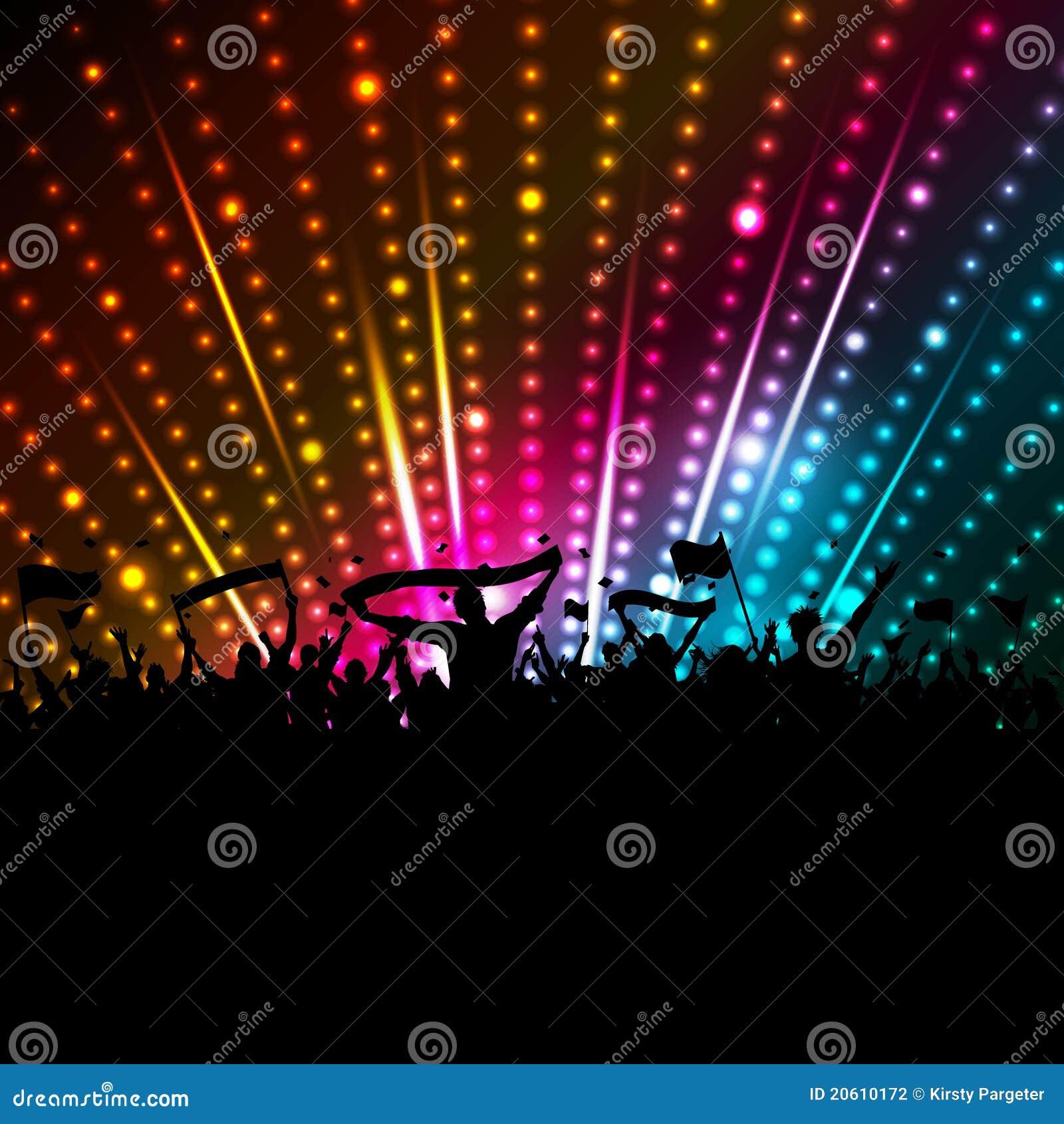 Fundo da multidão do disco