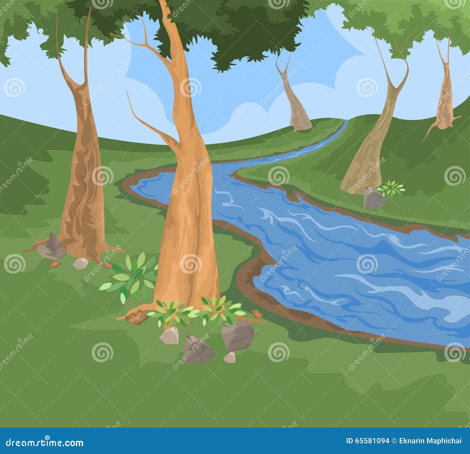 Fundo da natureza da angra do ambiente e do rio