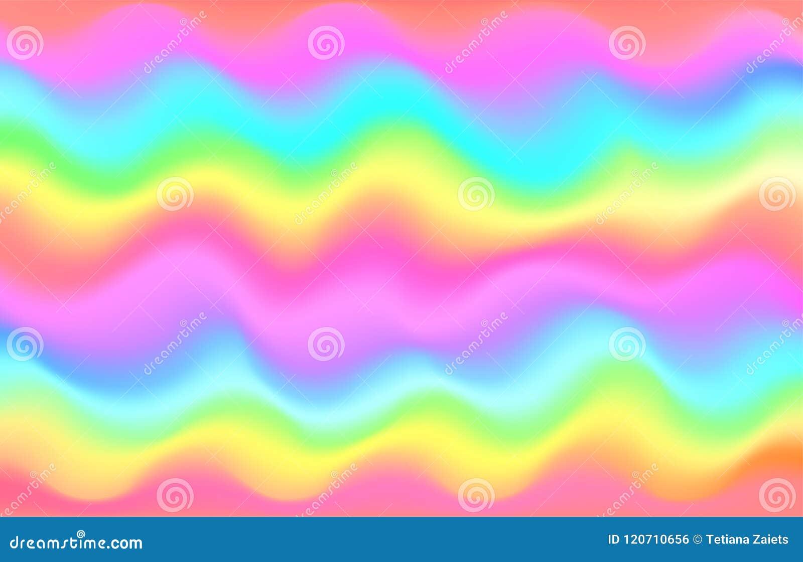 Fundo da onda do arco-íris do unicórnio Teste padrão da galáxia da sereia