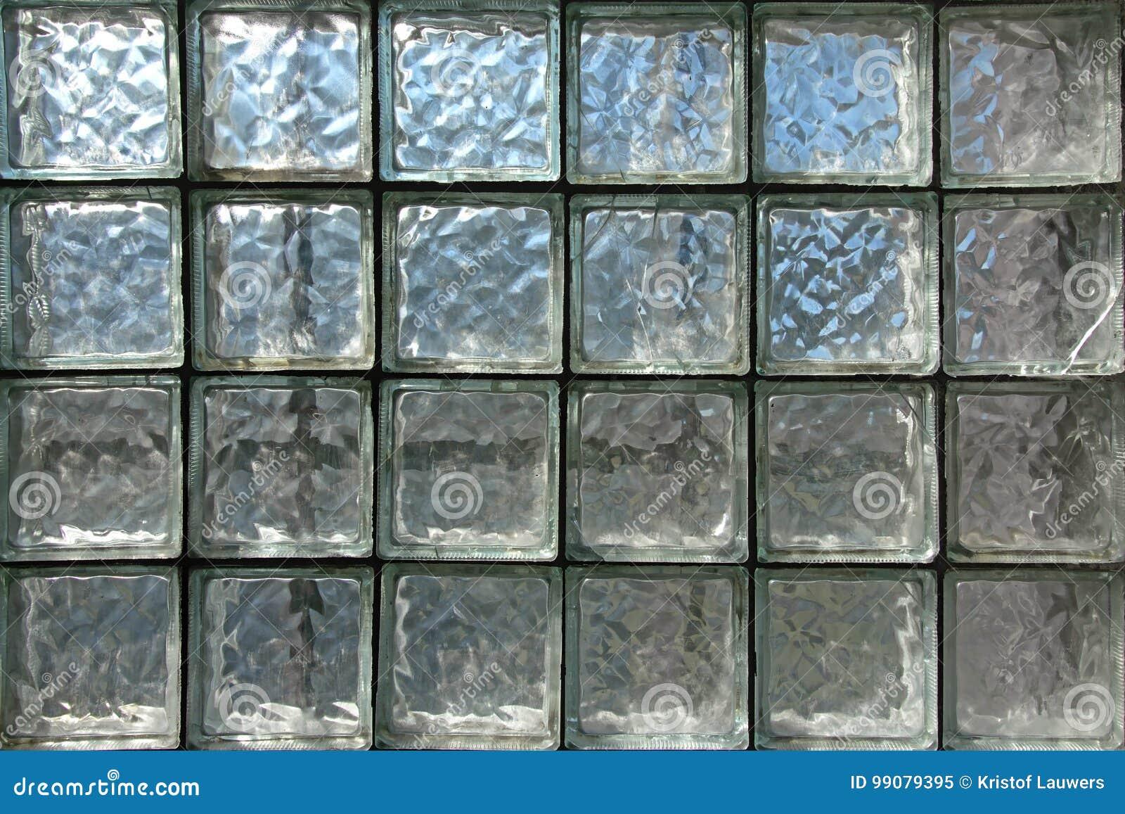 Fundo Da Parede De Tijolo De Vidro Imagem De Stock Imagem De  -> Tijolo De Vidro Marrom