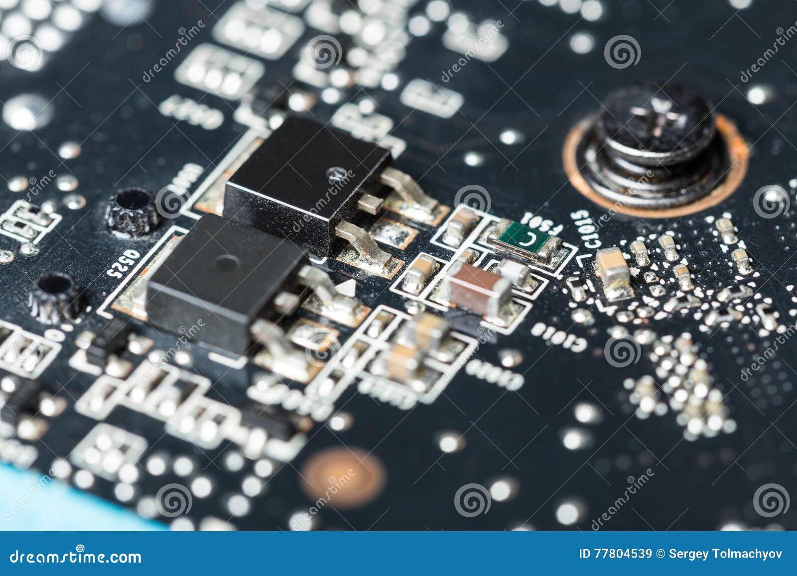 Fundo da placa de circuito