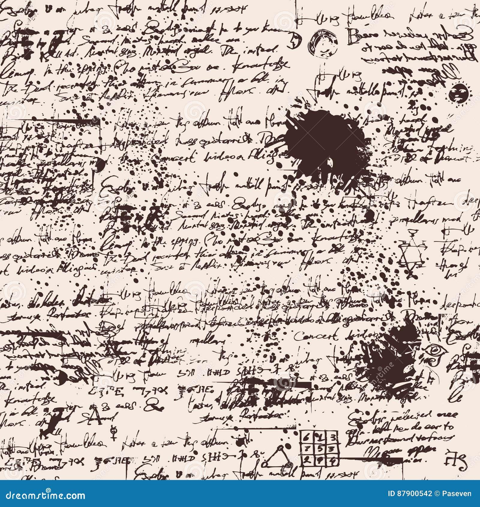 Fundo da textura do texto da escrita