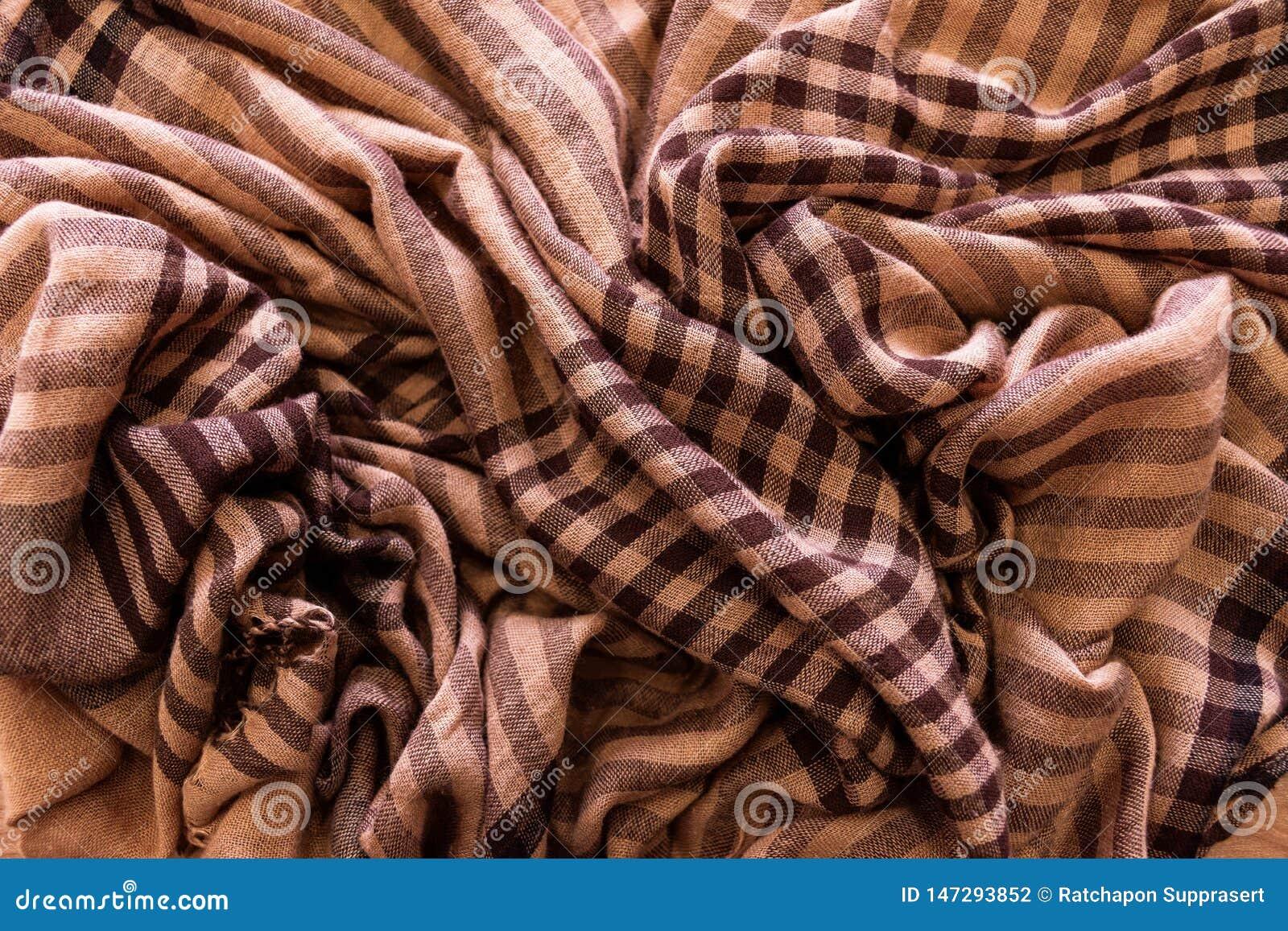 Fundo da textura da tartã da manta do teste padrão do lenço