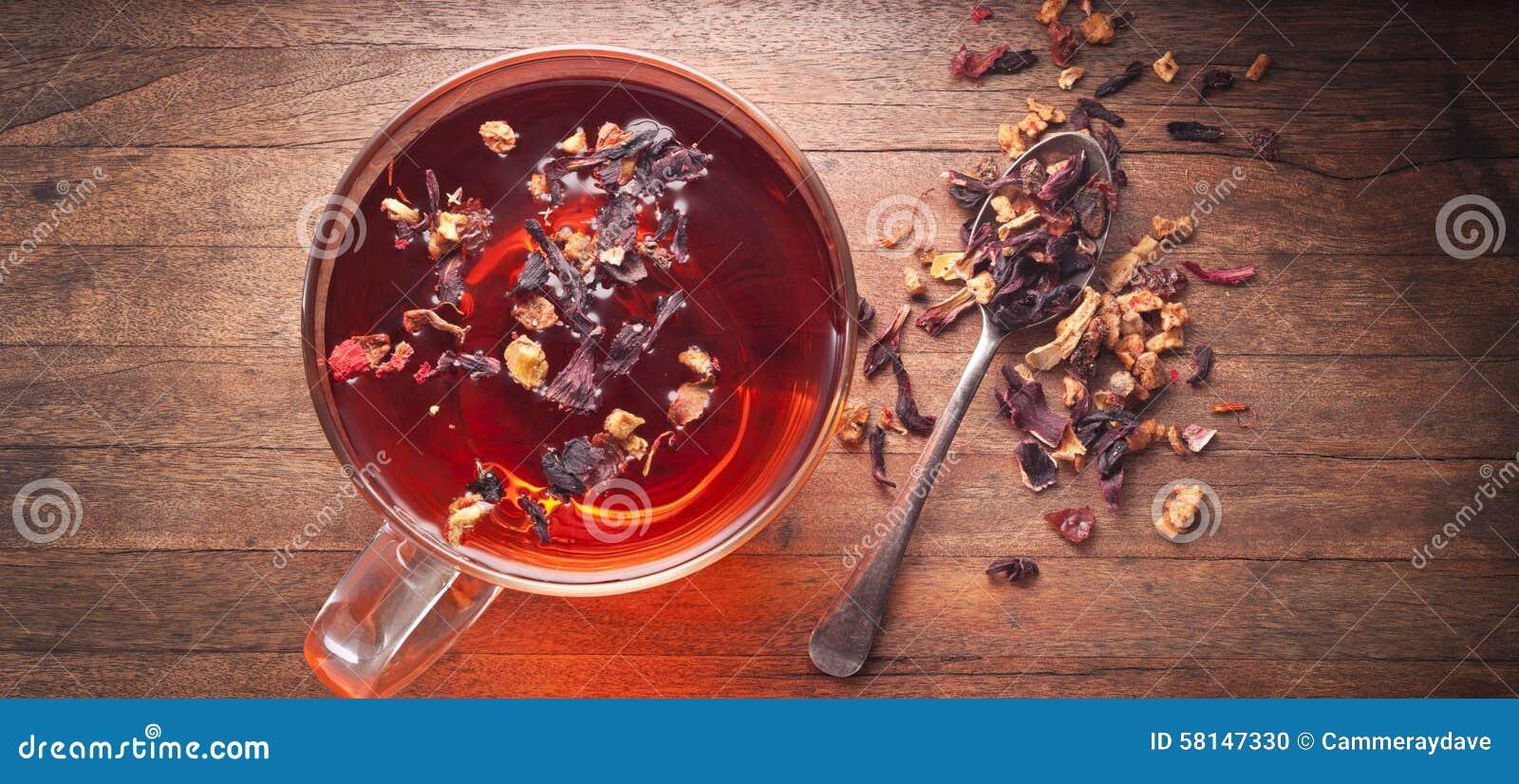 Fundo da xícara de chá da tisana