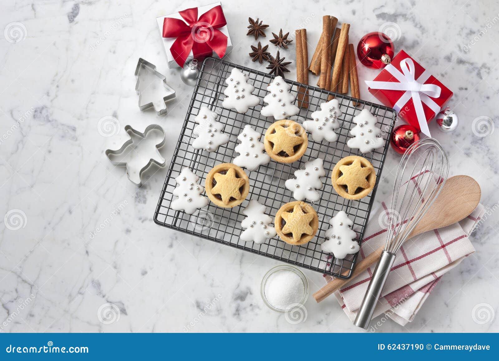 Fundo das cookies do White Christmas