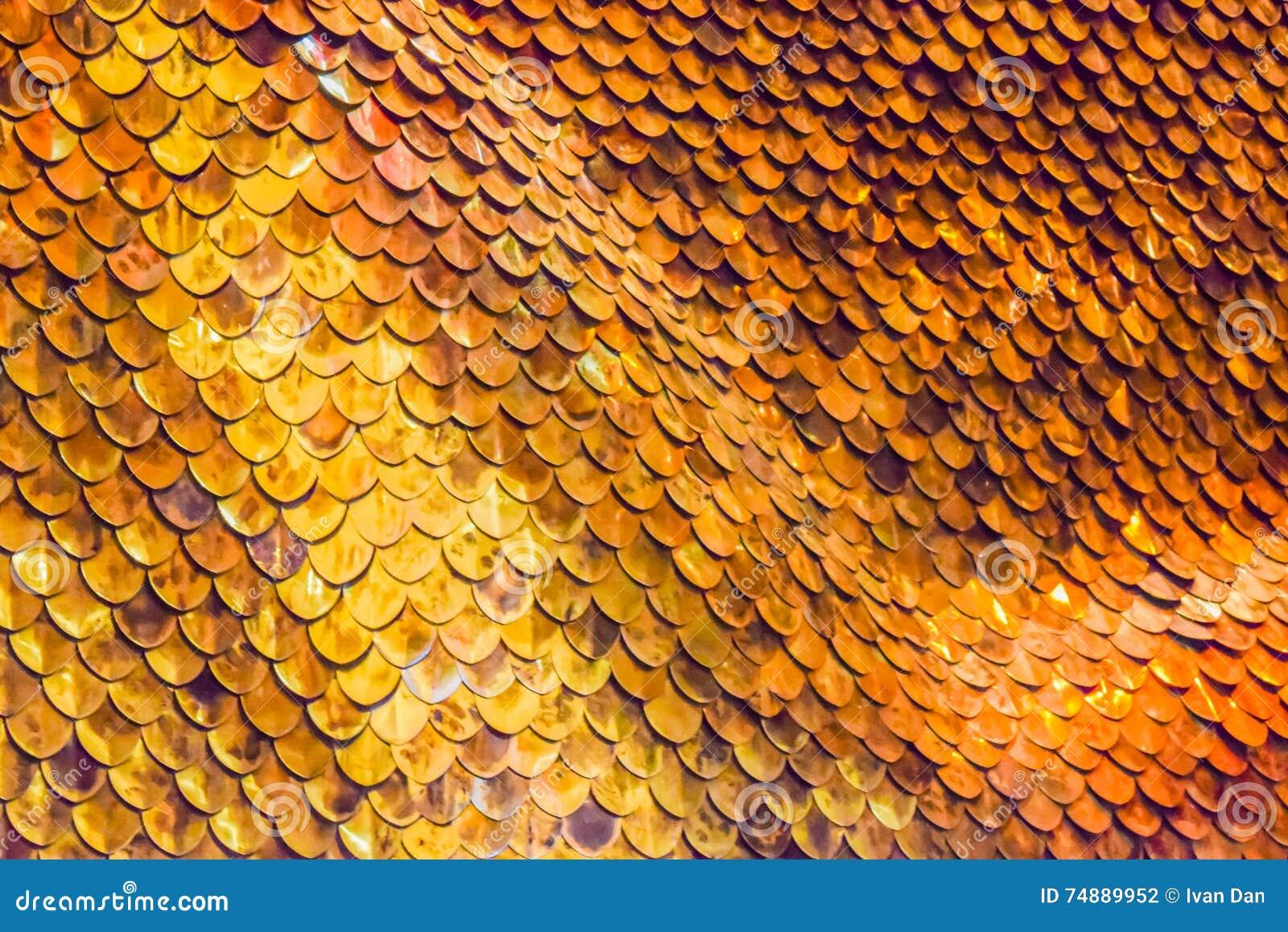 Fundo das escalas de peixes do ouro