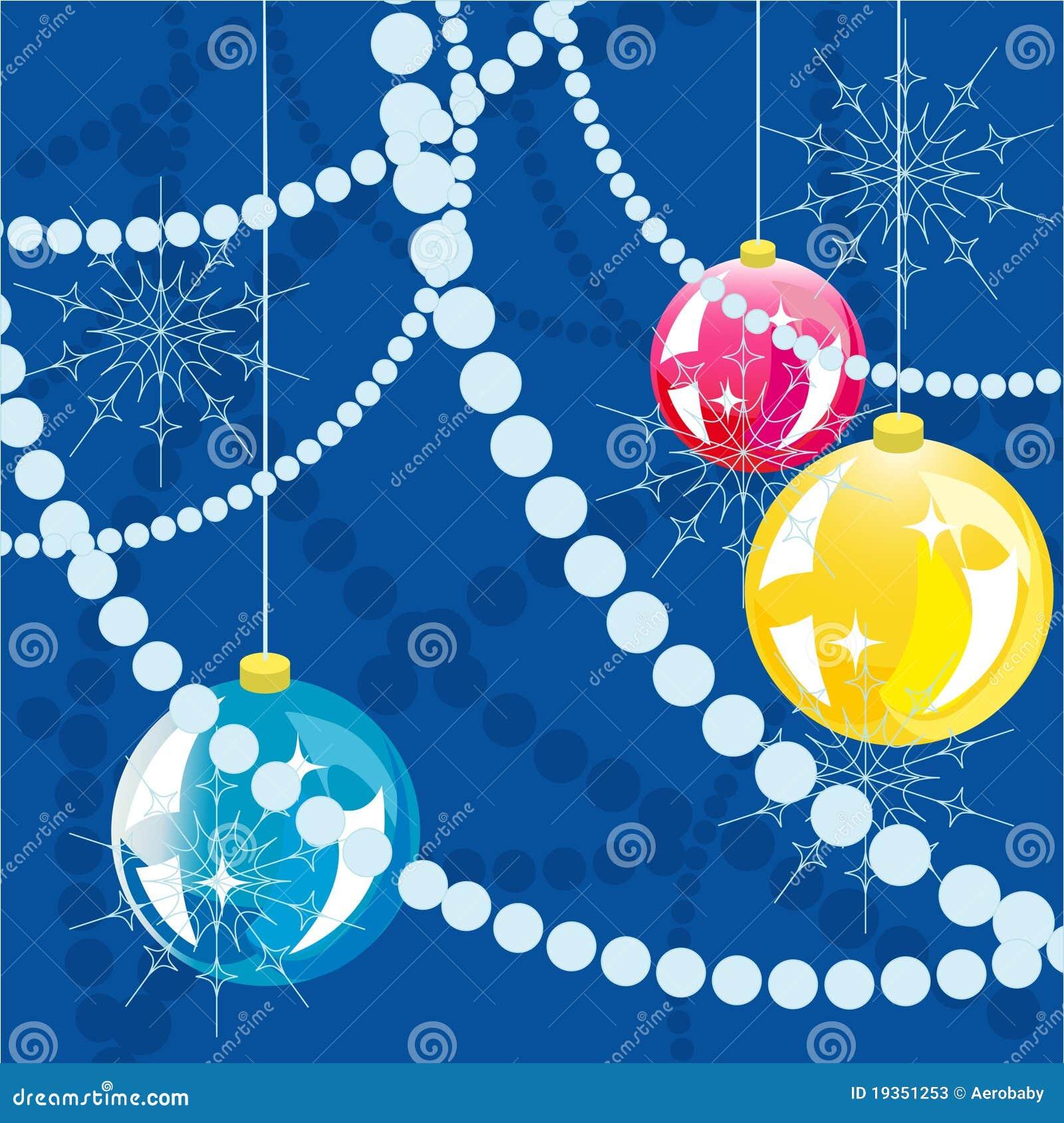 Fundo das esferas do ano novo.