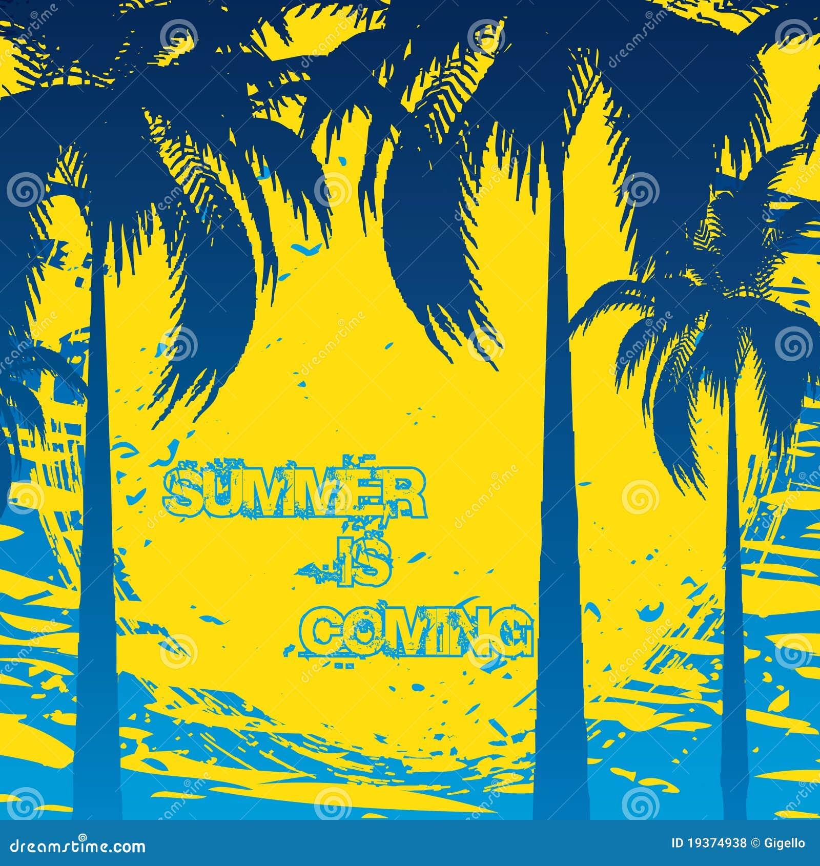 Fundo das férias de verão