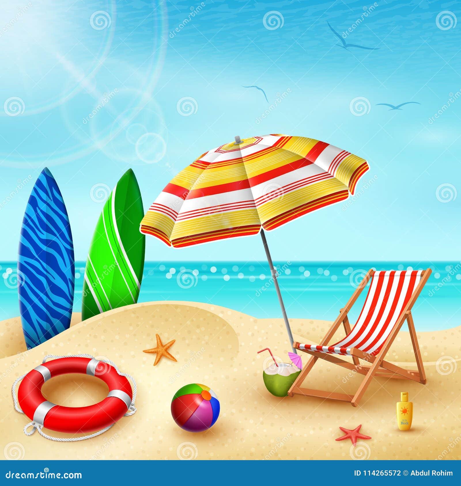 Ilustração do fundo das férias de verão Prancha 5914155646ff4