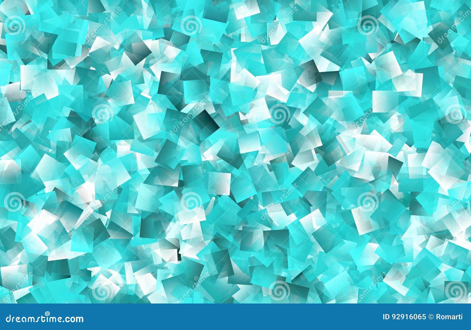 Fundo de Aqua Transparent Overlapping Geometric Shapes