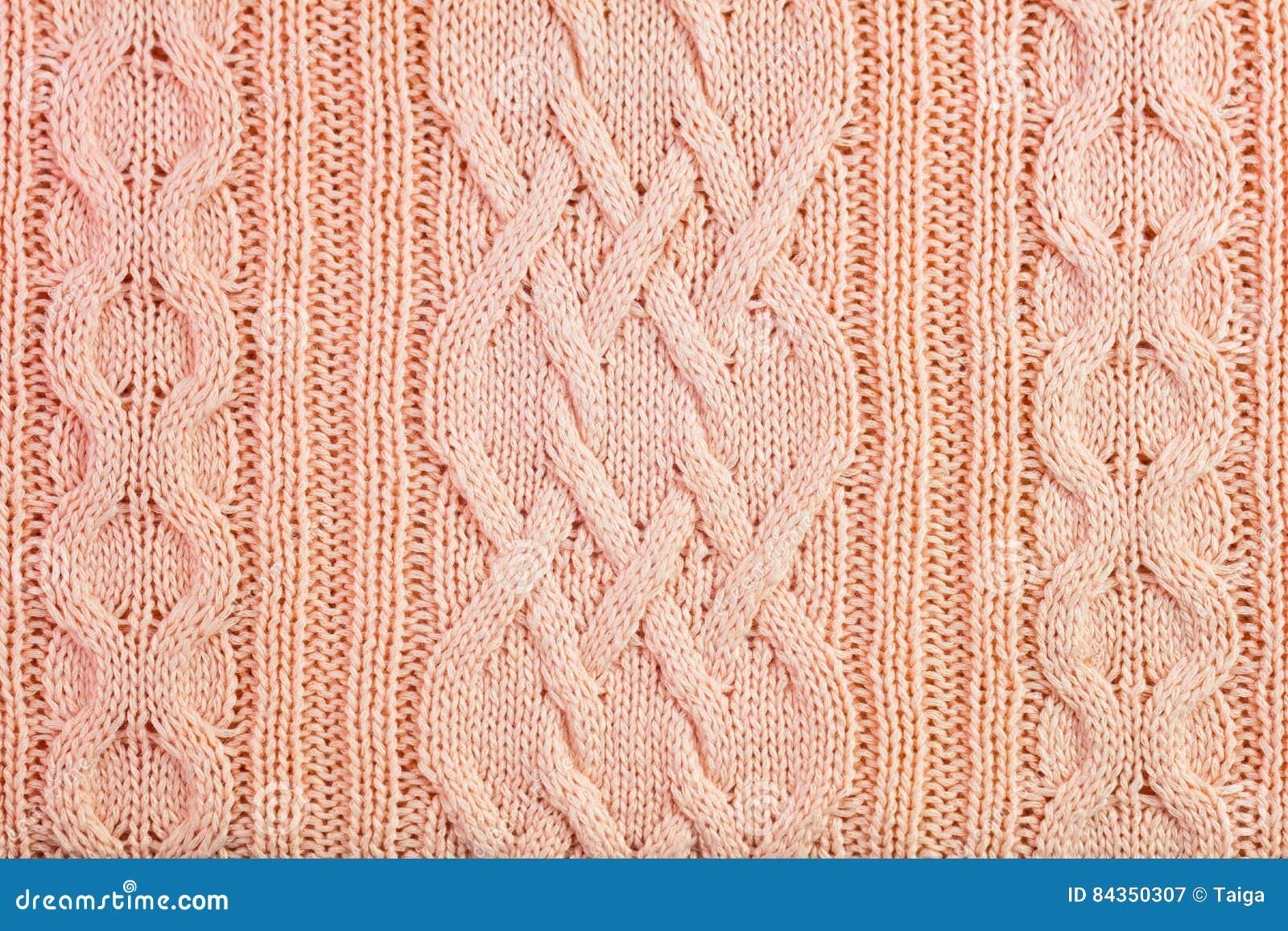 Fundo de confecção de malhas de lã decorado do teste padrão