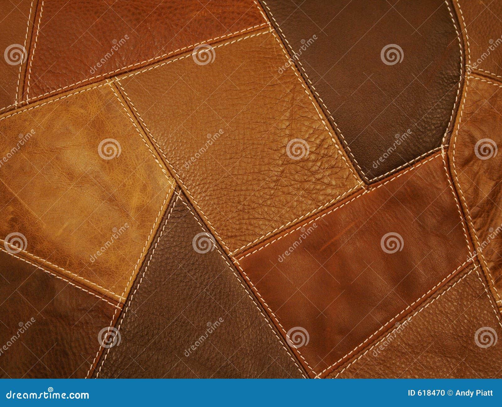Fundo de couro dos retalhos da tela