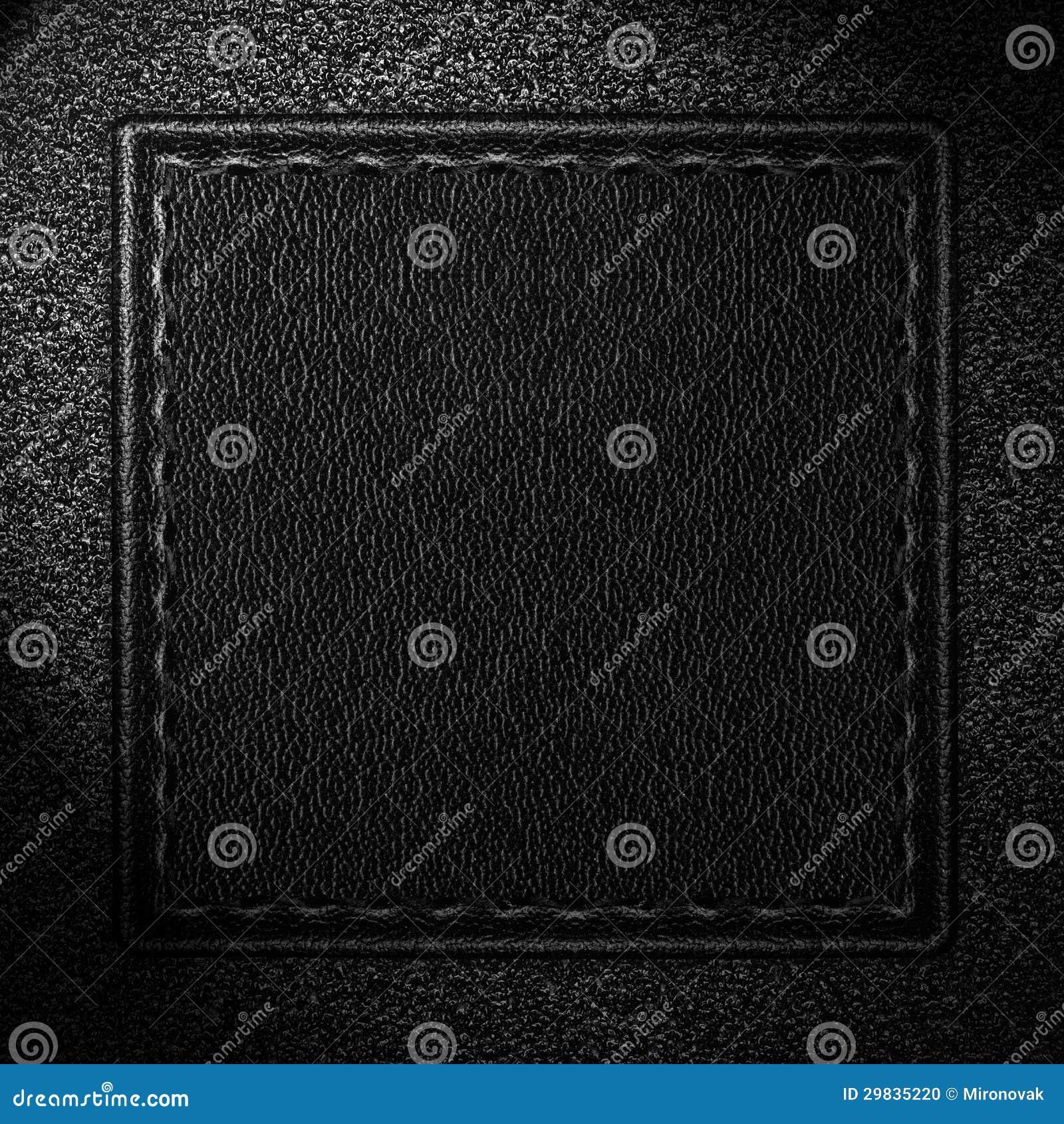 Fundo de couro preto