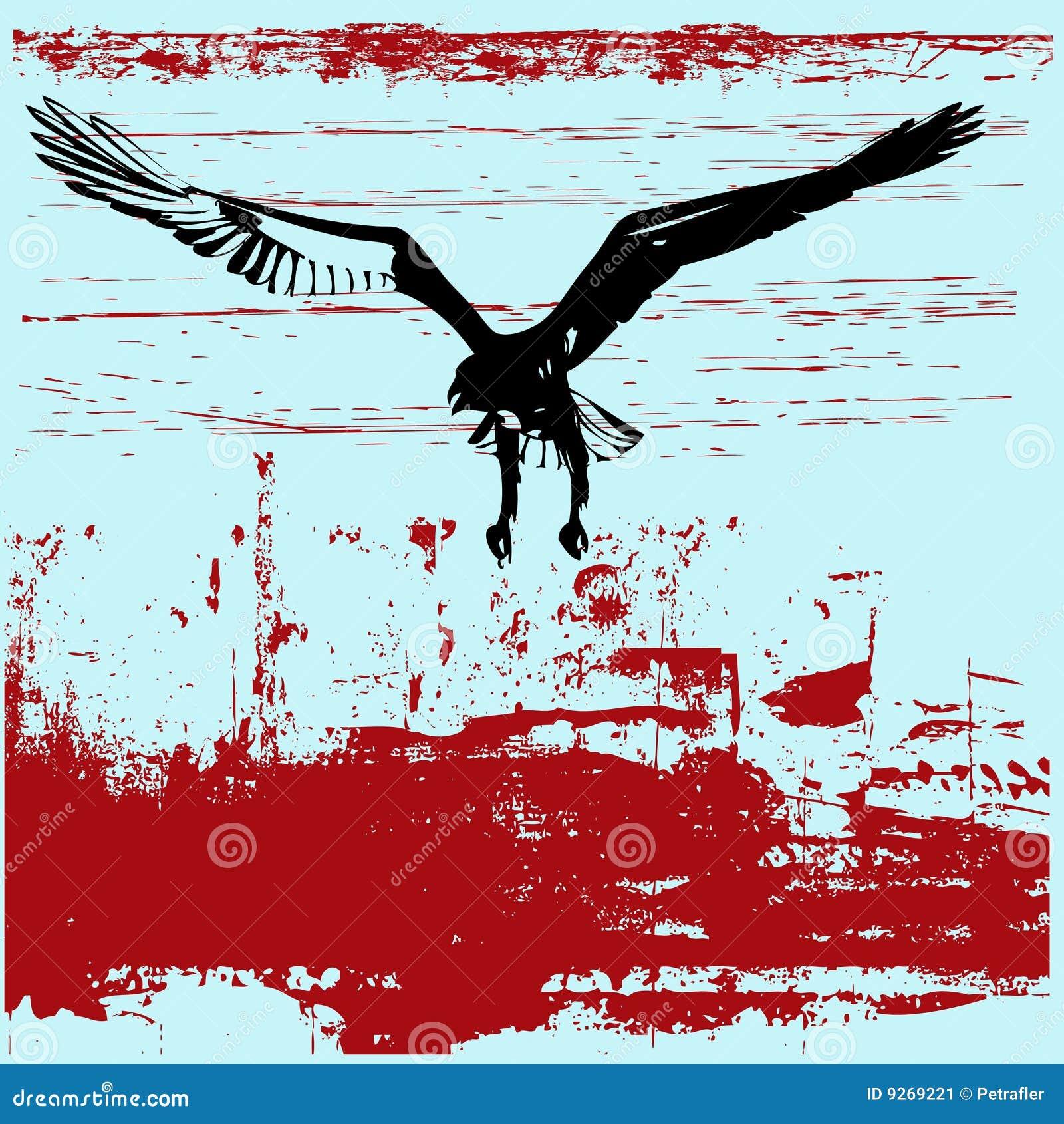 Fundo de Grunge da águia