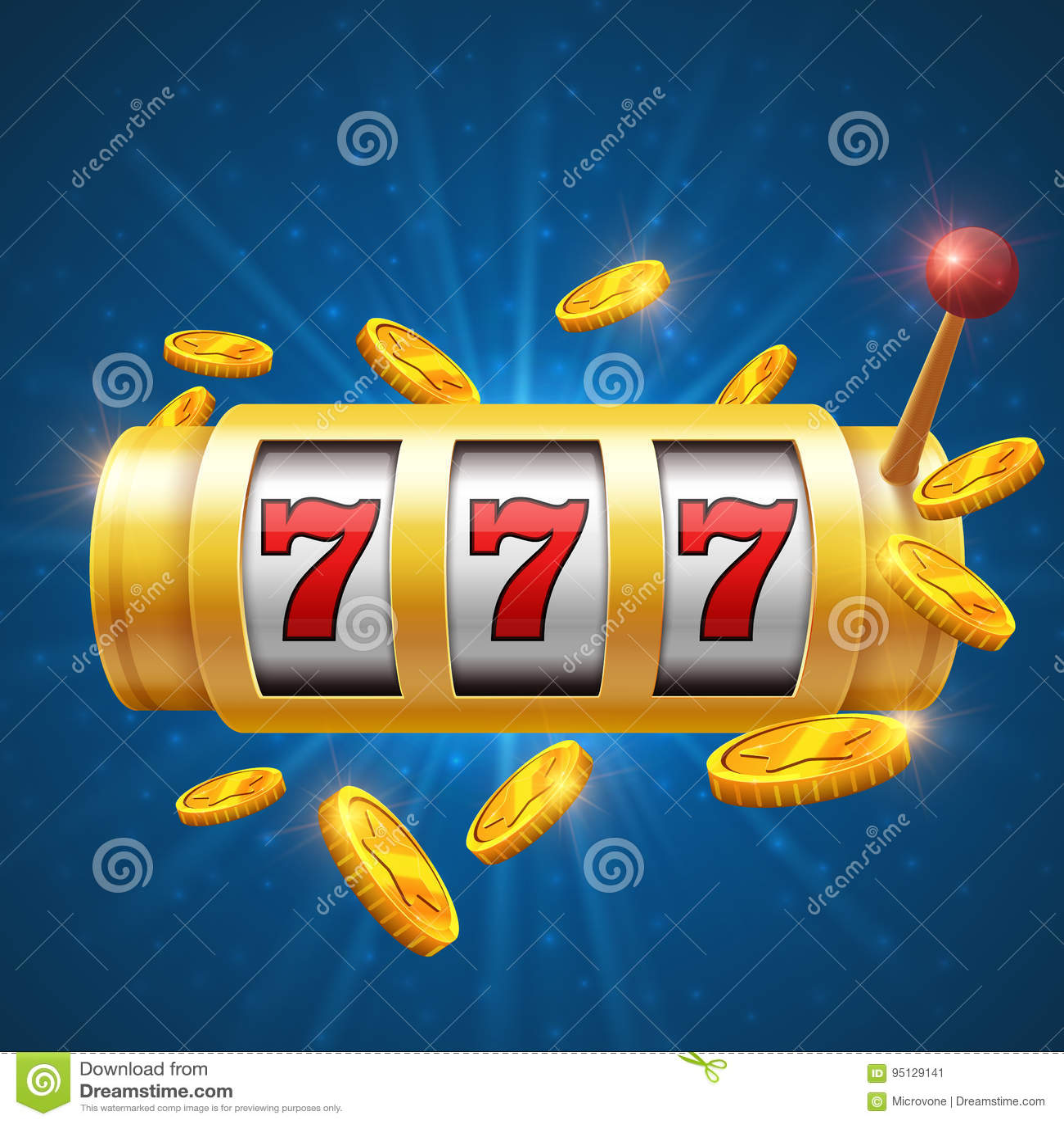 Fundo de jogo do vetor do vencedor com slot machine Conceito do jackpot do casino