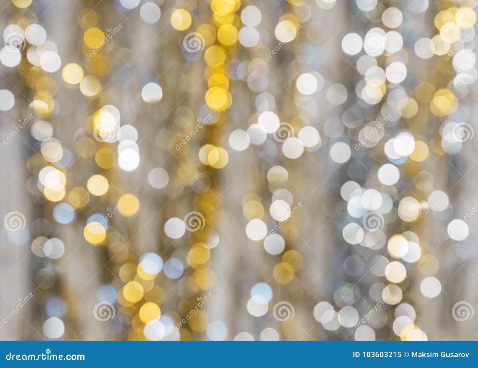 Fundo de luzes fortemente borradas das festões