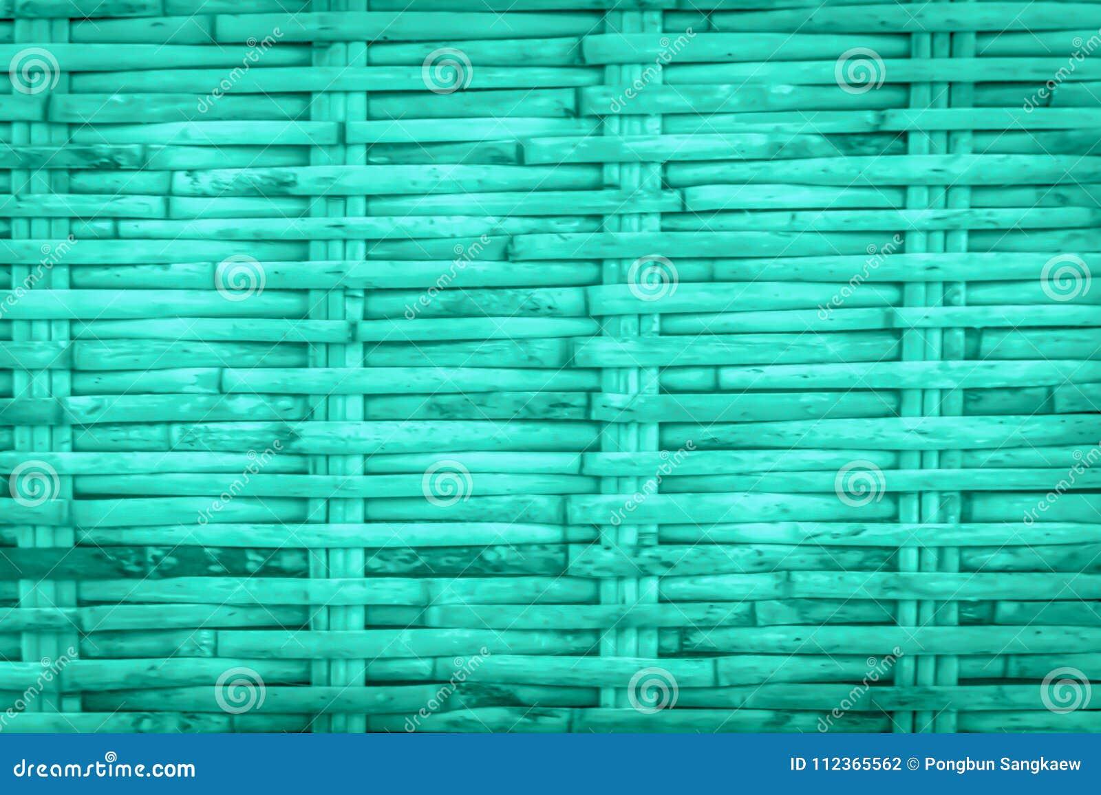 Fundo de madeira de bambu azul do teste padrão