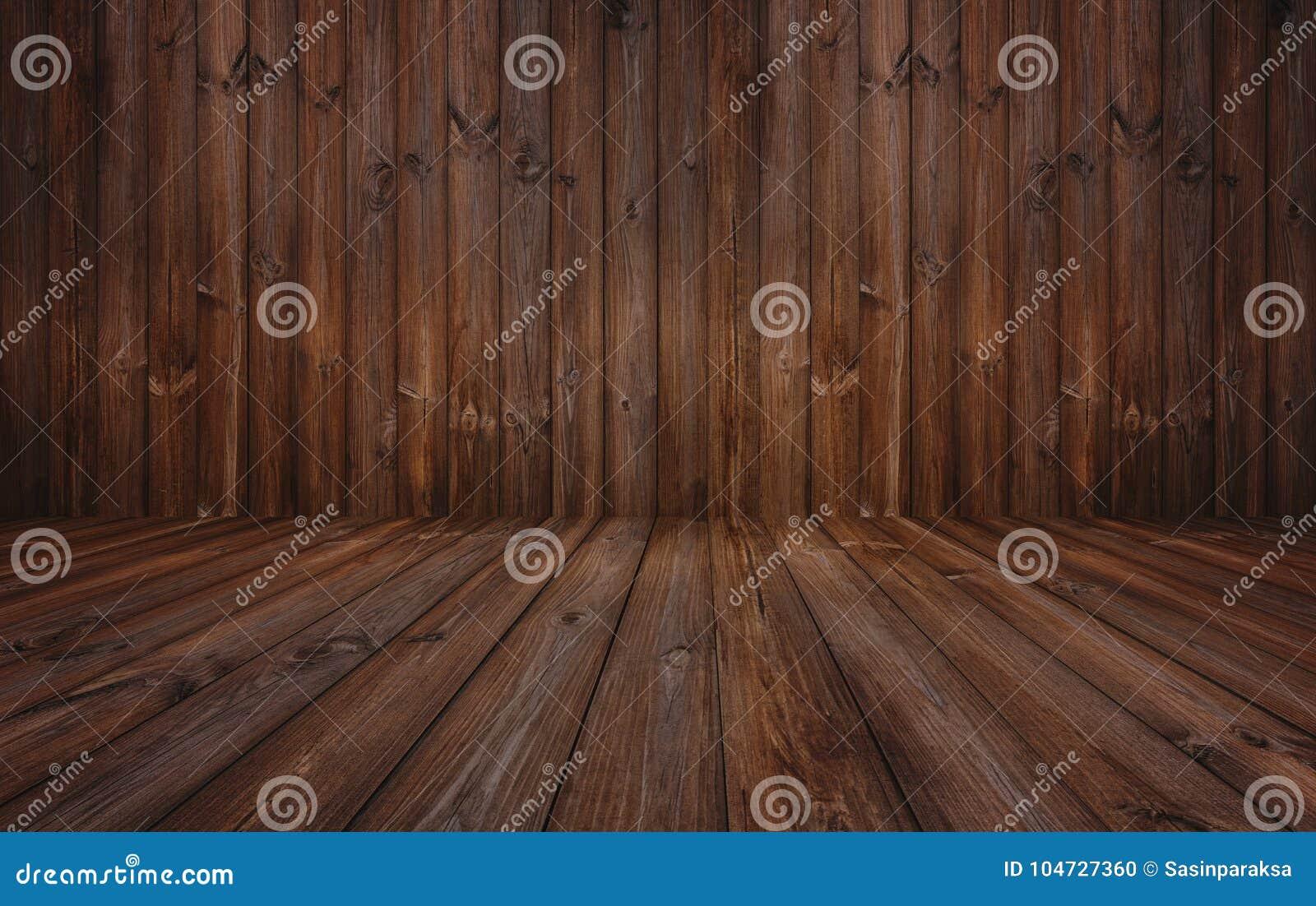 Fundo de madeira escuro da textura, parede de madeira e assoalho