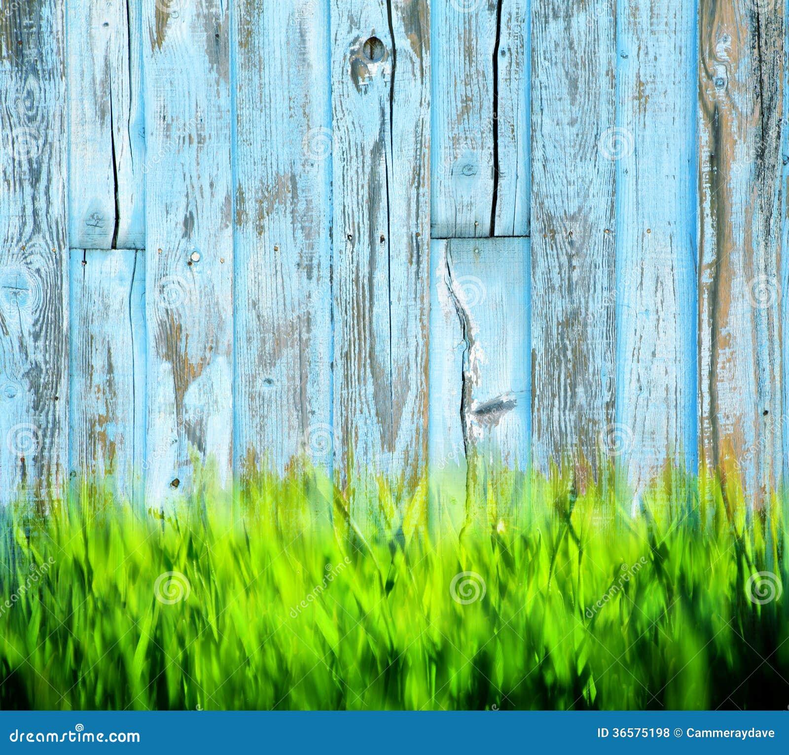 Fundo de madeira pintado grama