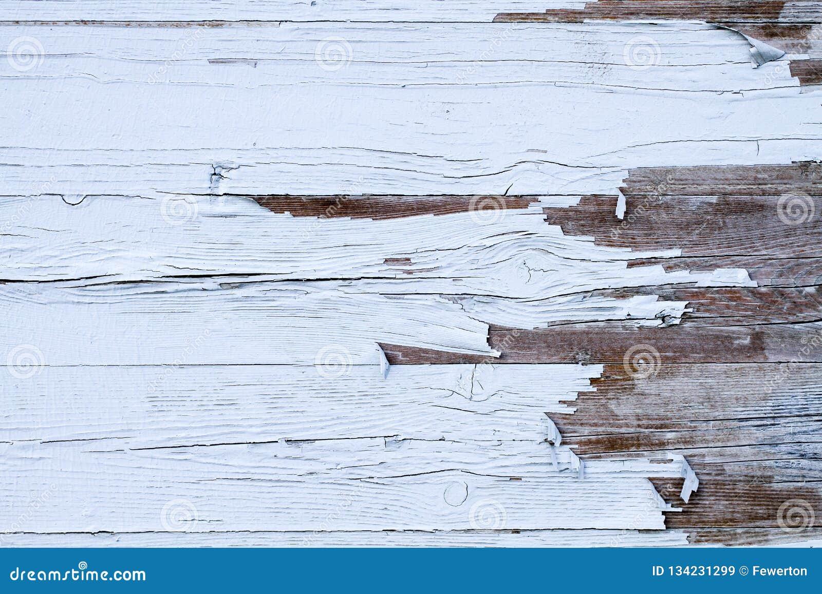 Fundo de madeira resistido sujo e velho da textura da parede da madeira branca marcado pela exposição longa aos elementos fora