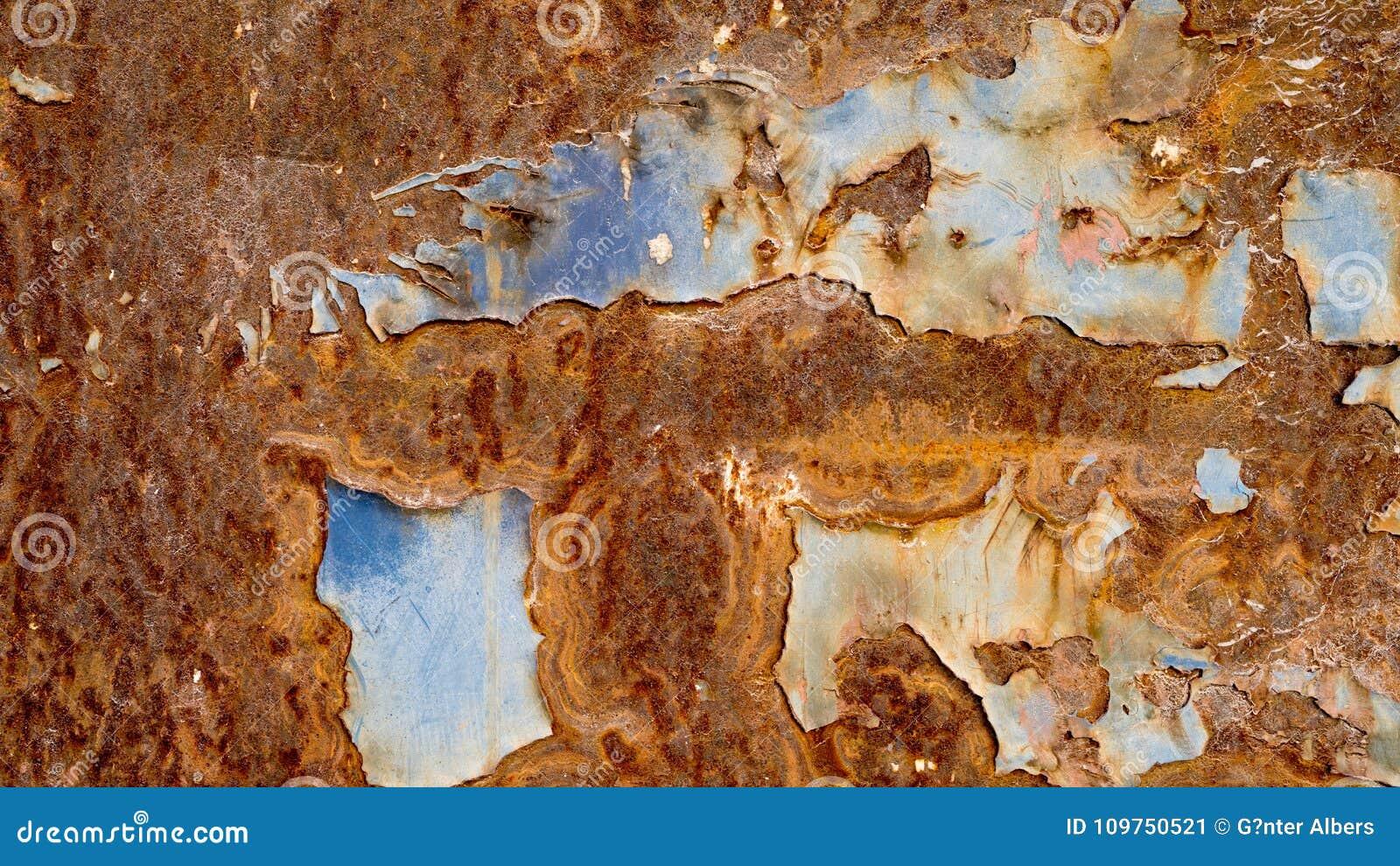 Fundo de oxidação do metal