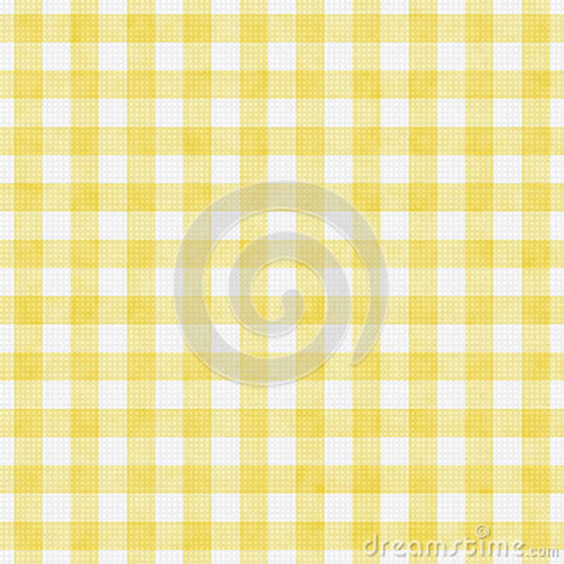 Fundo de Pale Yellow Gingham Pattern Repeat