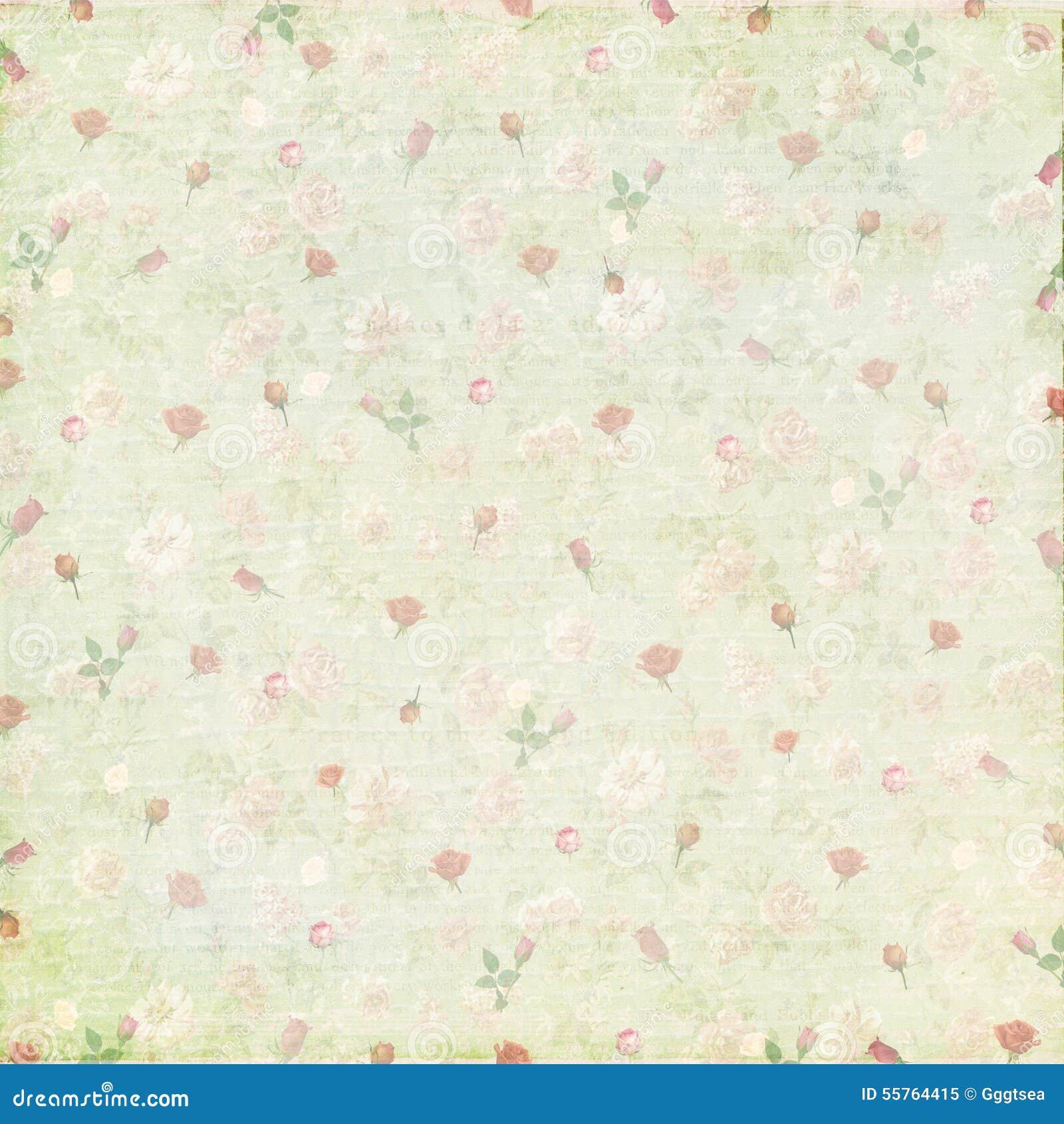 Fundo de papel cor-de-rosa gasto do vintage