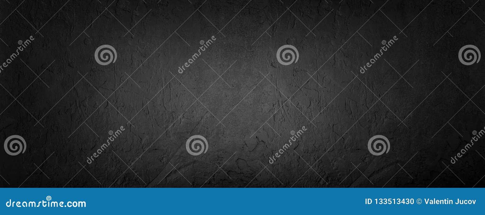 Fundo de pedra preto, textura cinzenta do cimento Vista superior, configuração lisa